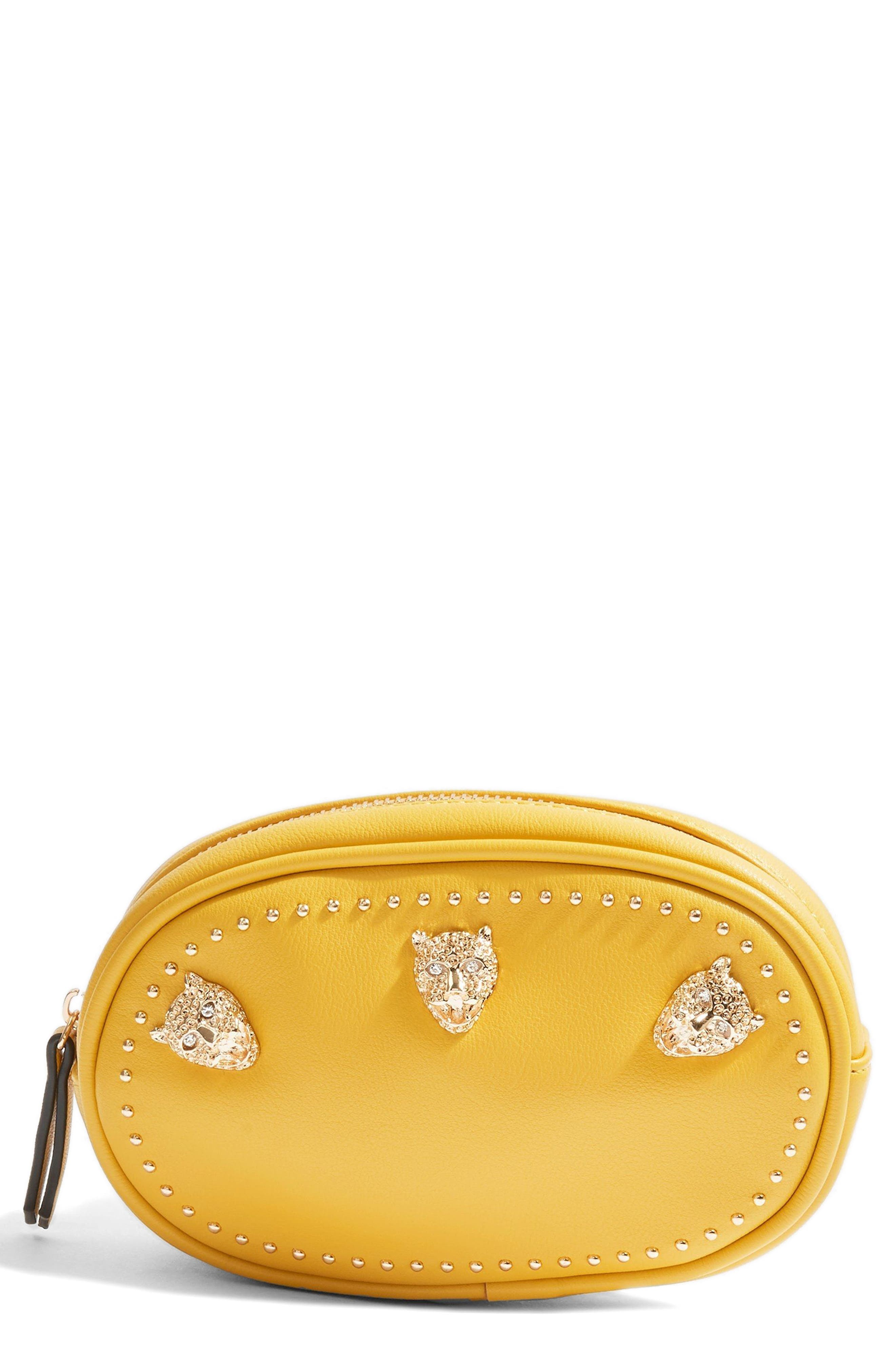 Panther Bum Bag,                             Main thumbnail 1, color,                             Yellow