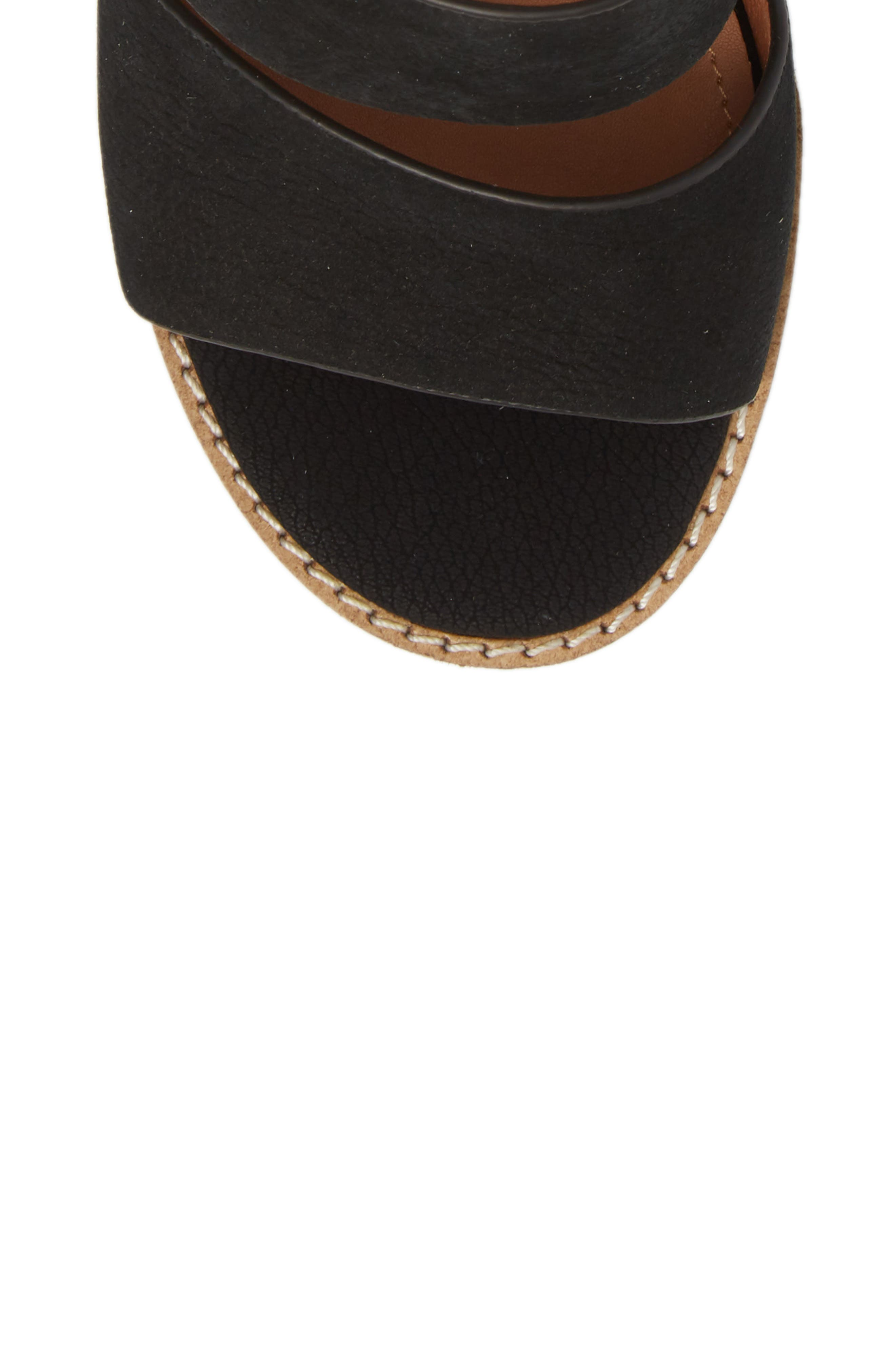 Cabrilla Sandal,                             Alternate thumbnail 5, color,                             Black Leather