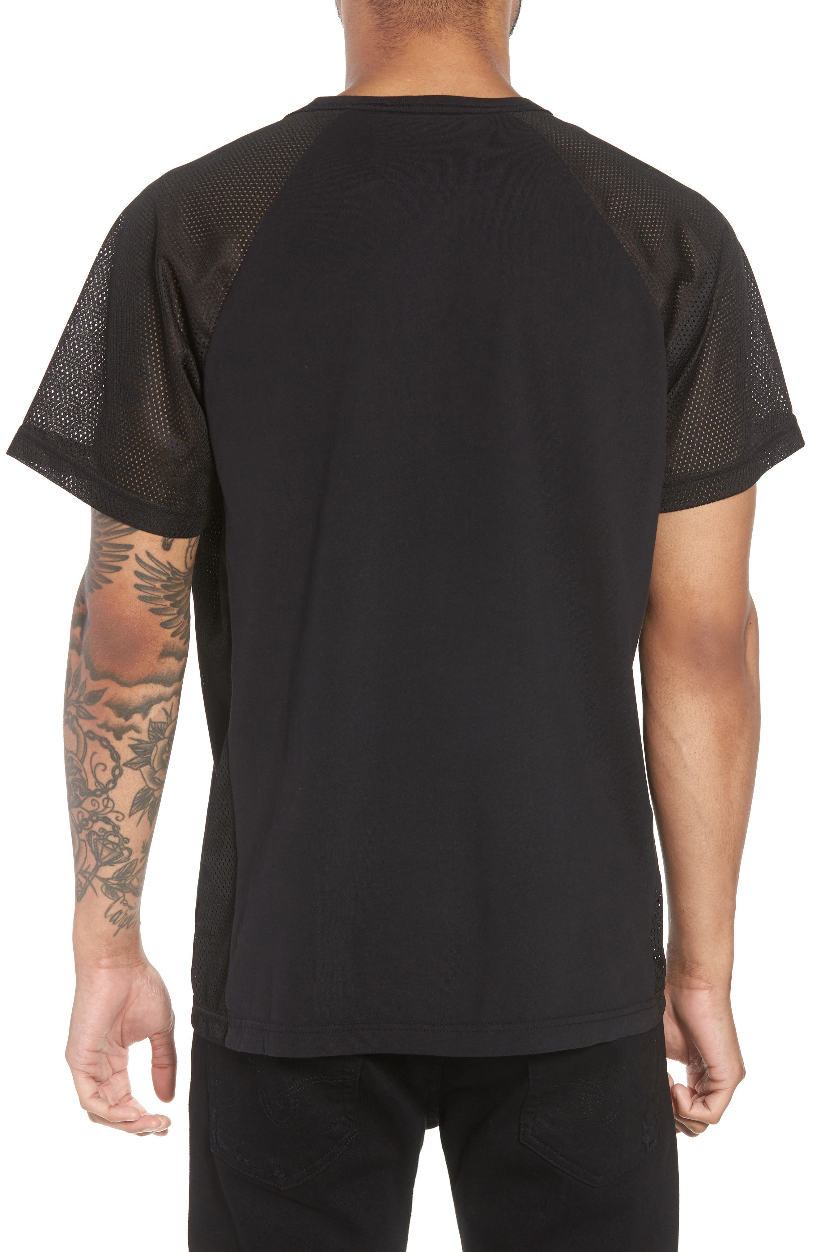 Solid Raglan T-Shirt,                             Alternate thumbnail 2, color,                             True Black