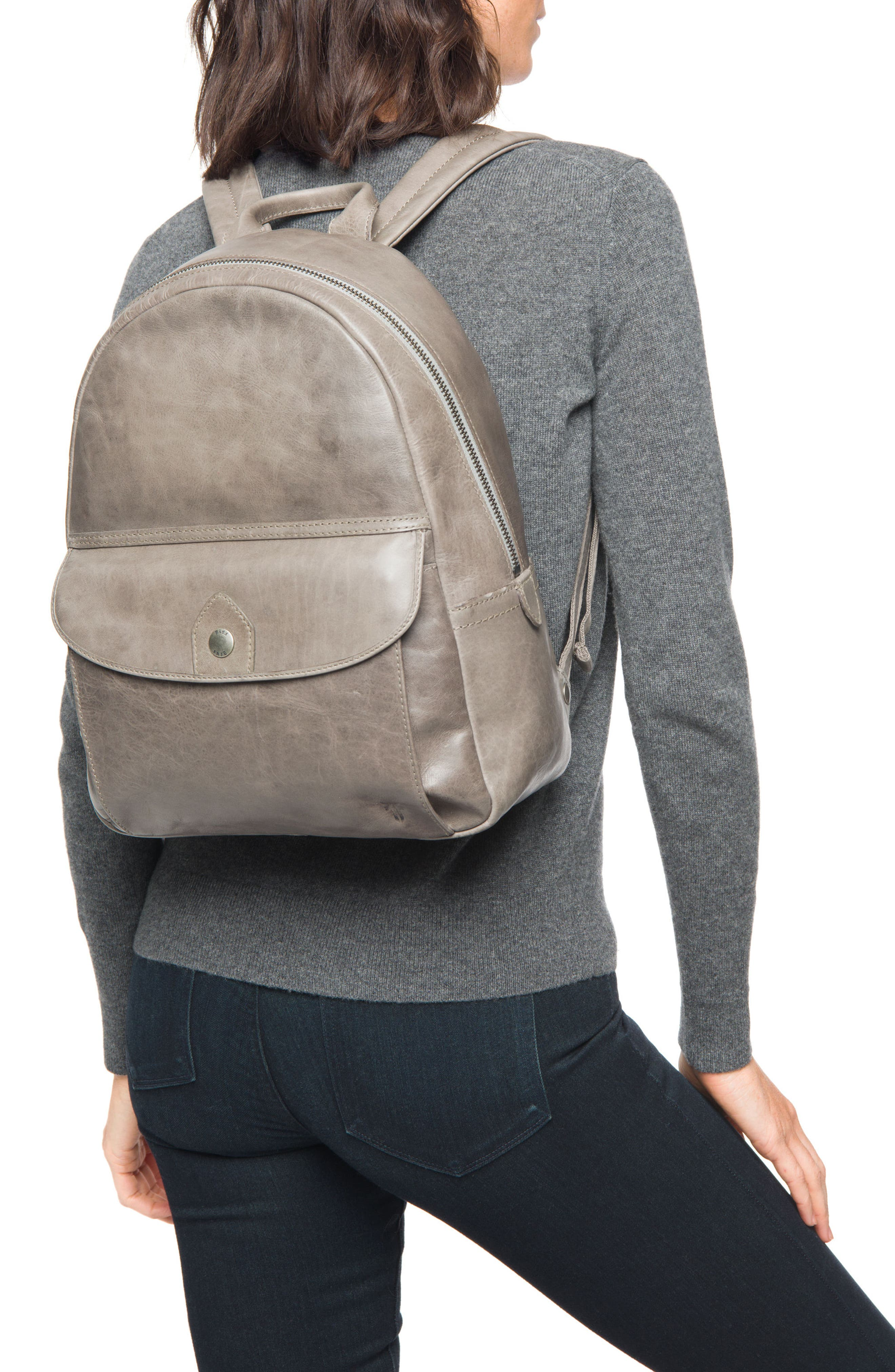 Melissa Leather Backpack,                             Alternate thumbnail 2, color,                             Ice