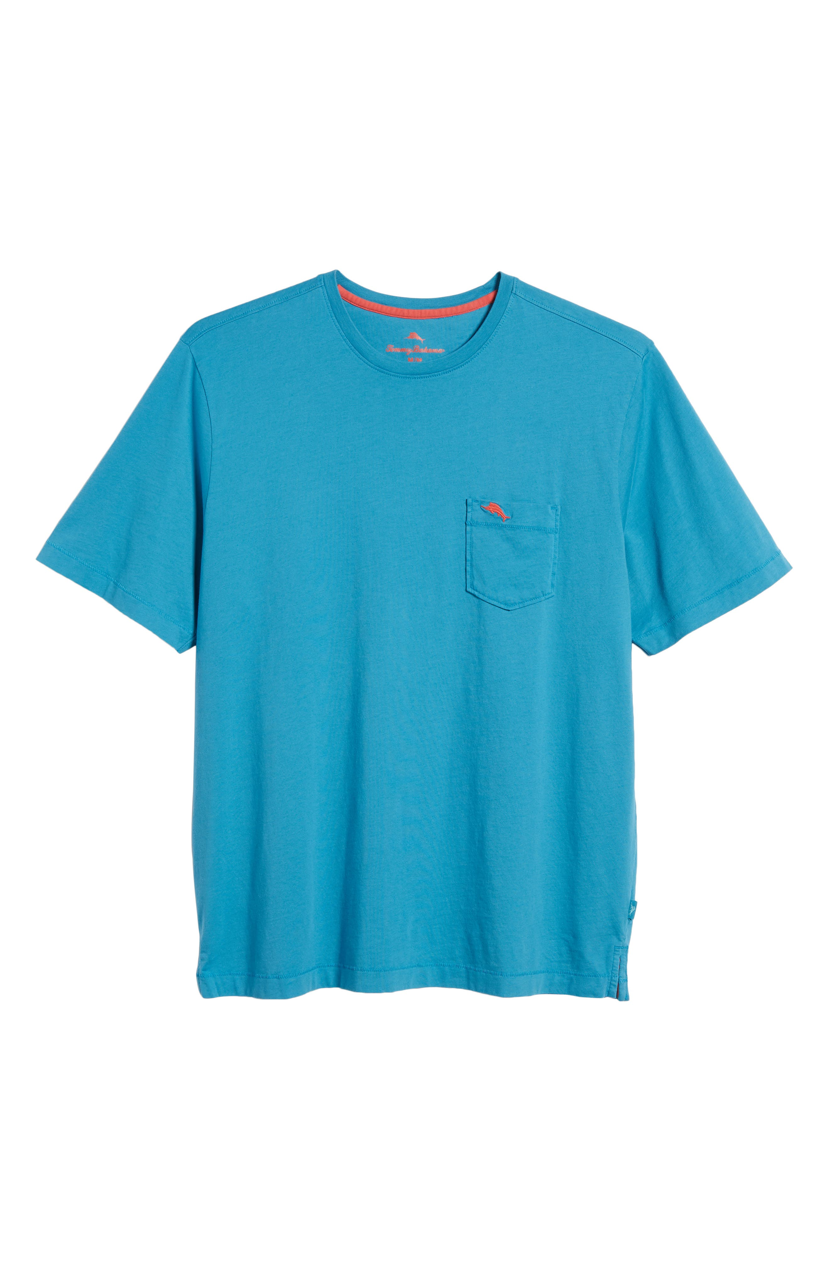 New Bali Sky Pima Cotton Pocket T-Shirt,                             Alternate thumbnail 6, color,                             Voyager Blue