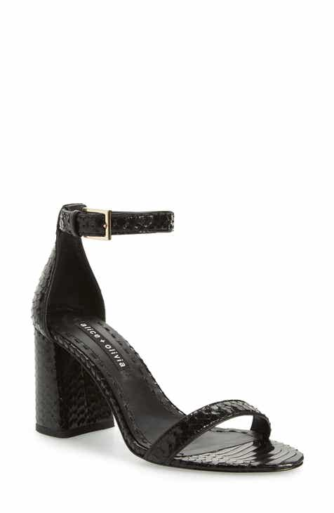 Alice + Olivia Lillian Ankle Strap Sandal (Women)