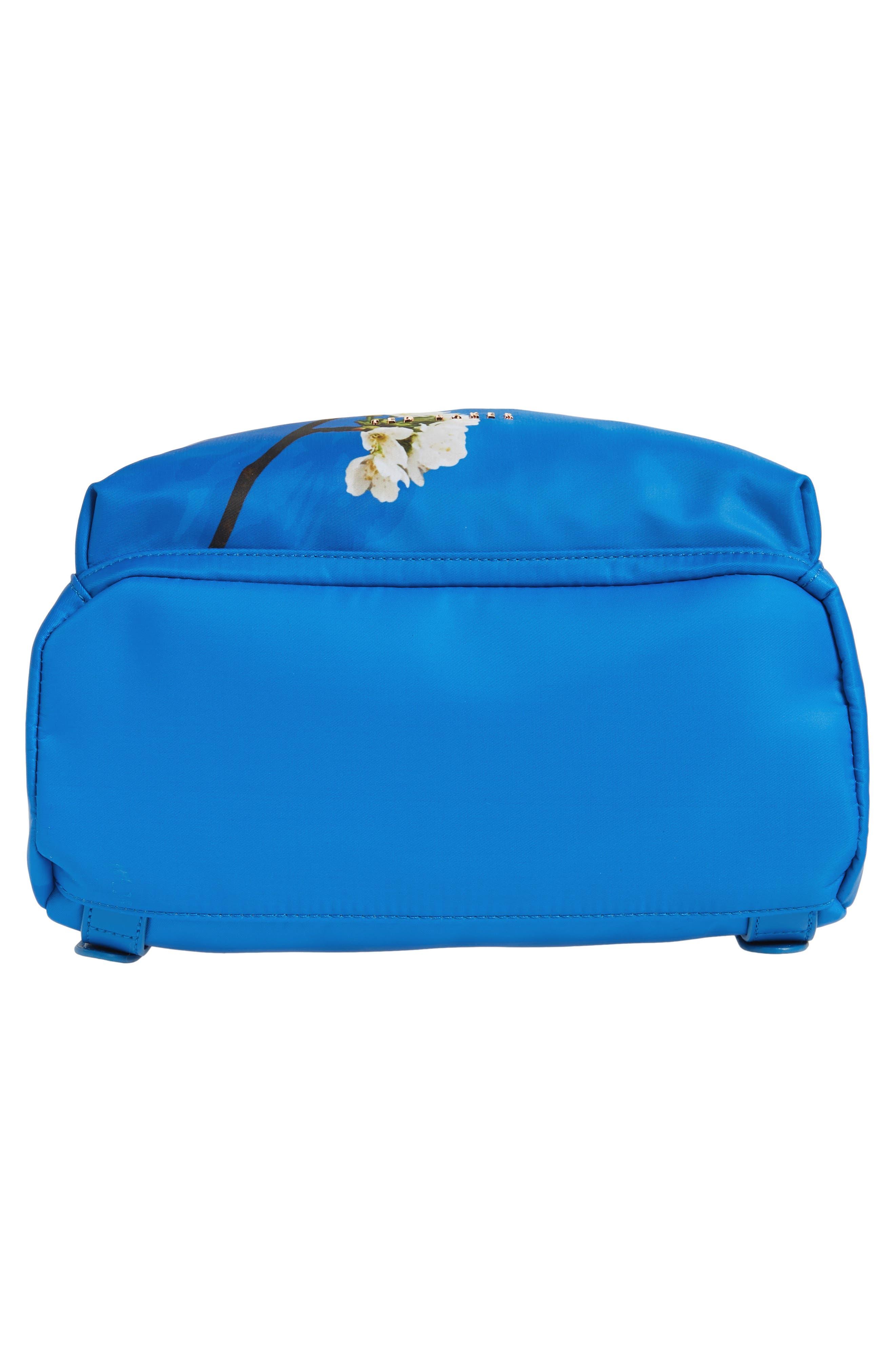 Harmony Print Backpack,                             Alternate thumbnail 6, color,                             Bright Blue