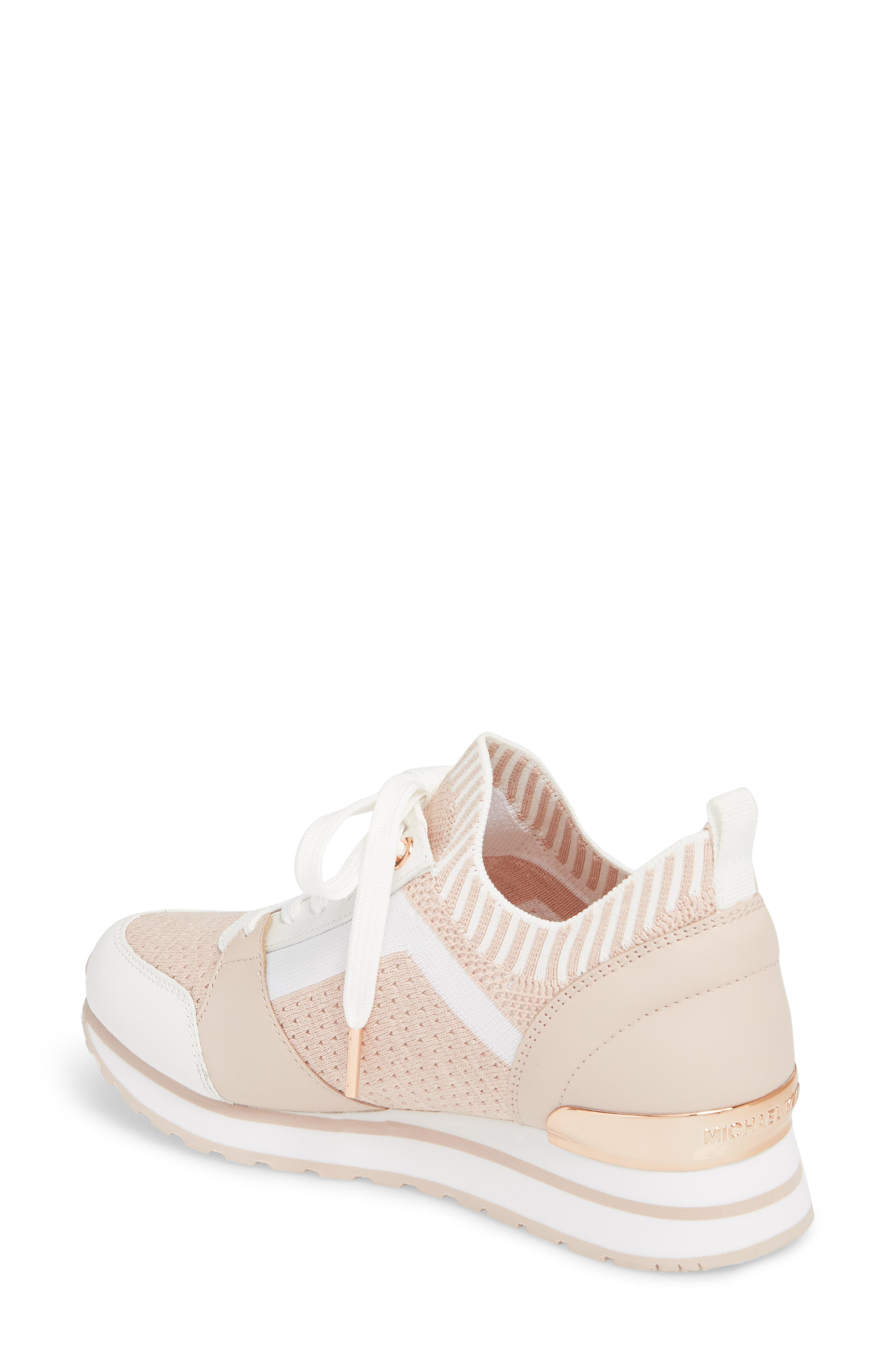 Billie Perforated Sneaker,                             Alternate thumbnail 2, color,                             Soft Pink Fabric