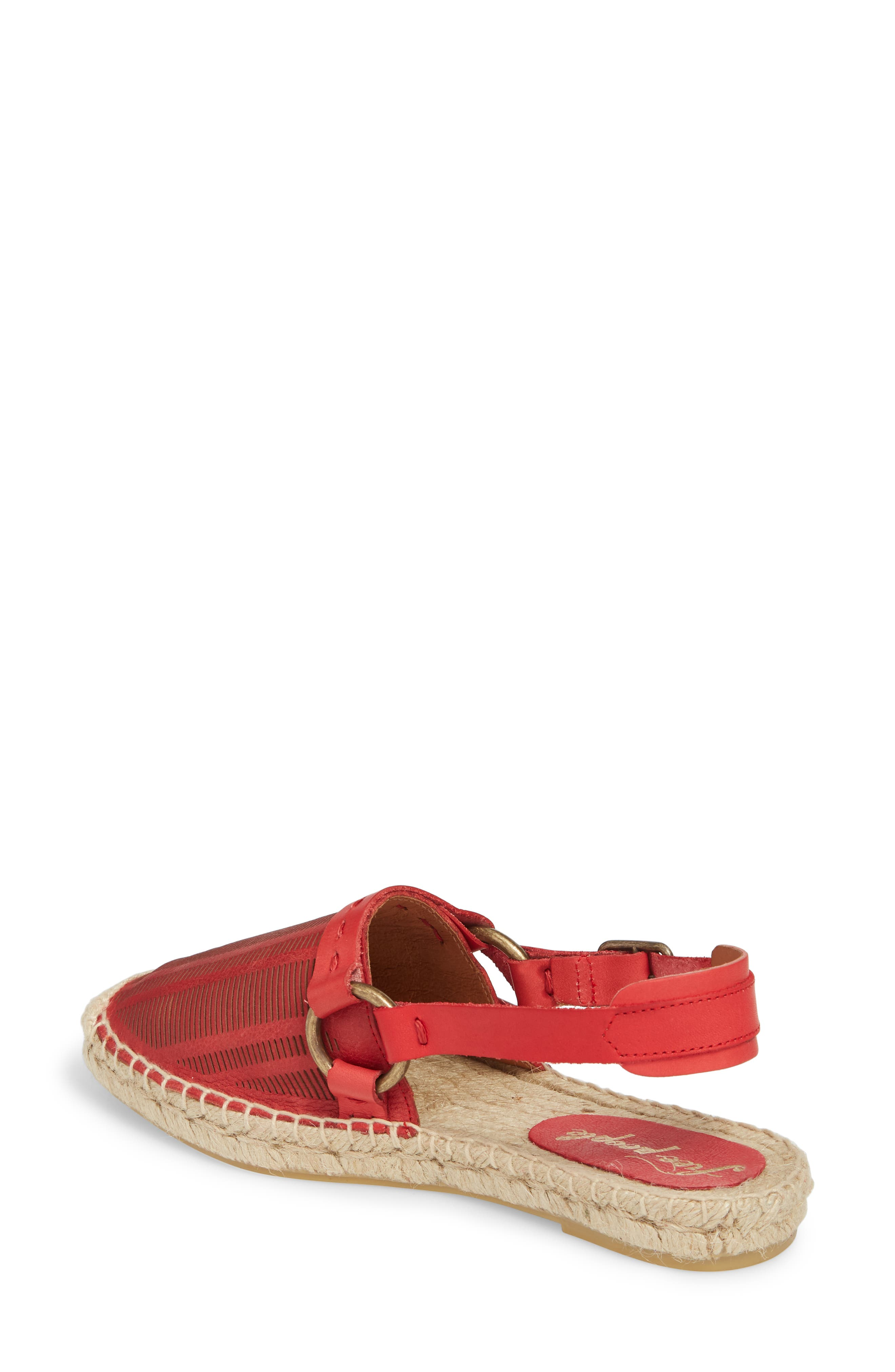 Cabo Espadrille Flat,                             Alternate thumbnail 4, color,                             Red