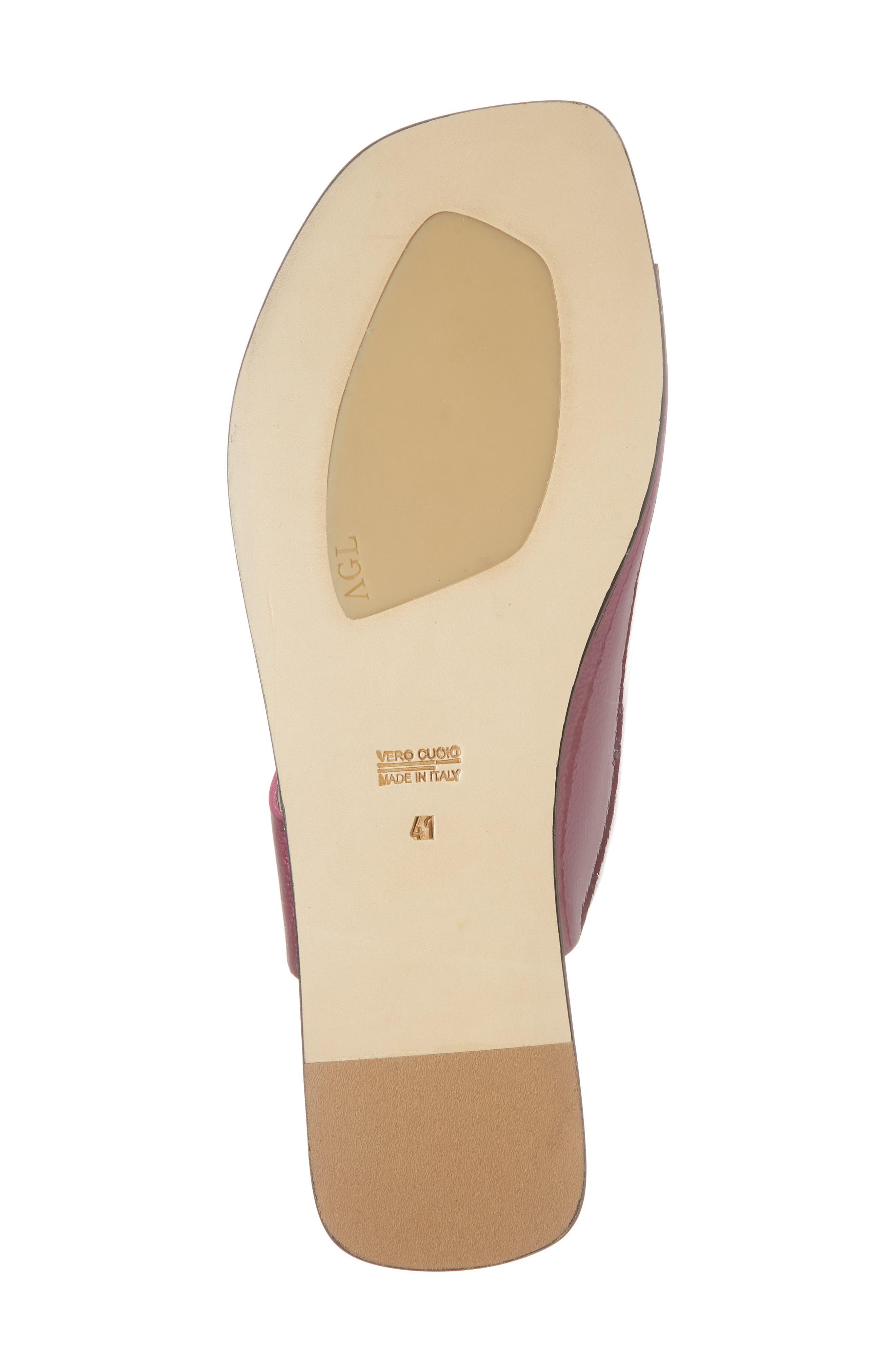 Asymmetrical Toe Thong Sandal,                             Alternate thumbnail 6, color,                             Fuchsia Patent