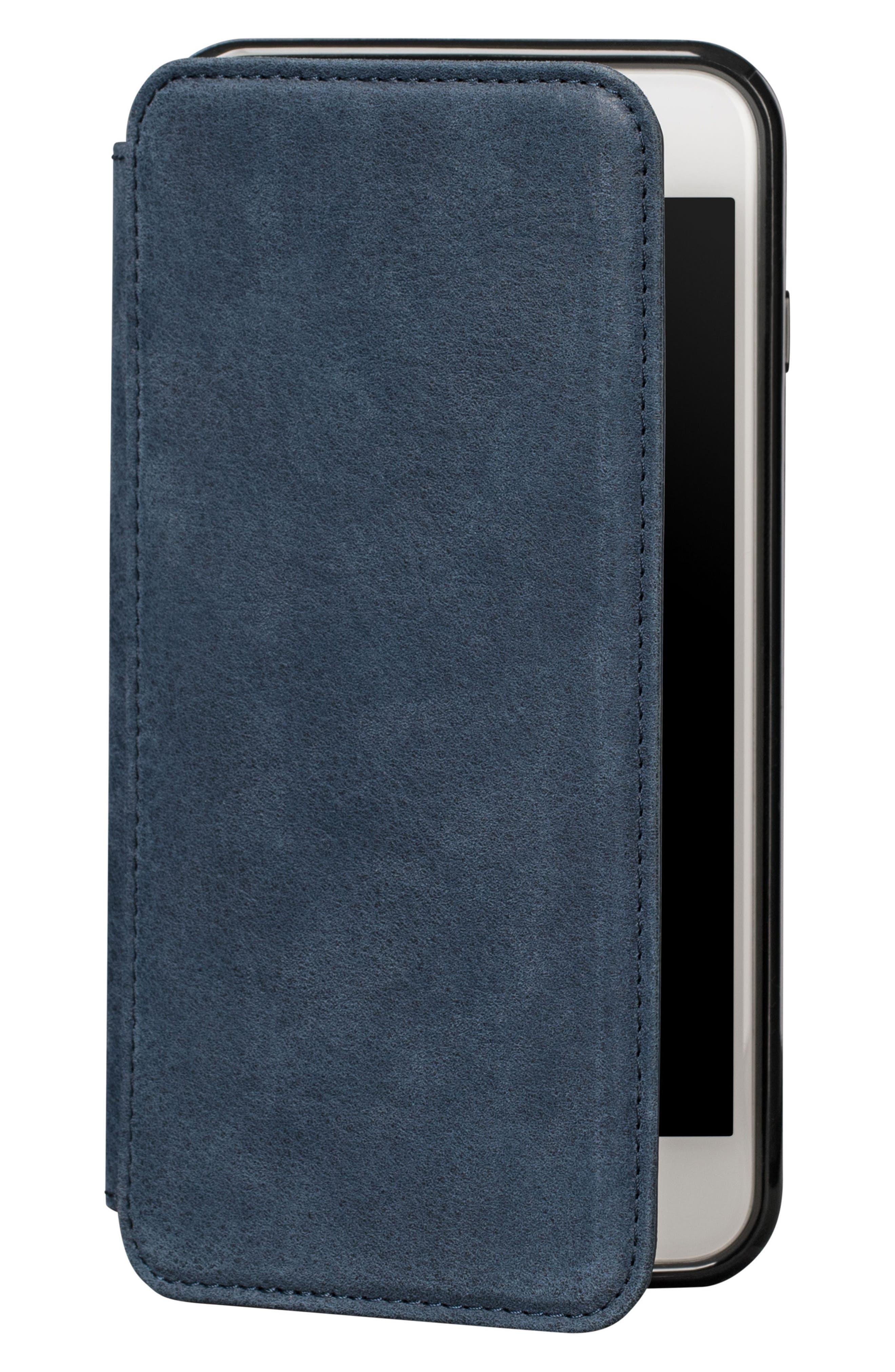 Bence iPhone 7/8 Plus Walletbook,                             Main thumbnail 1, color,                             Denim