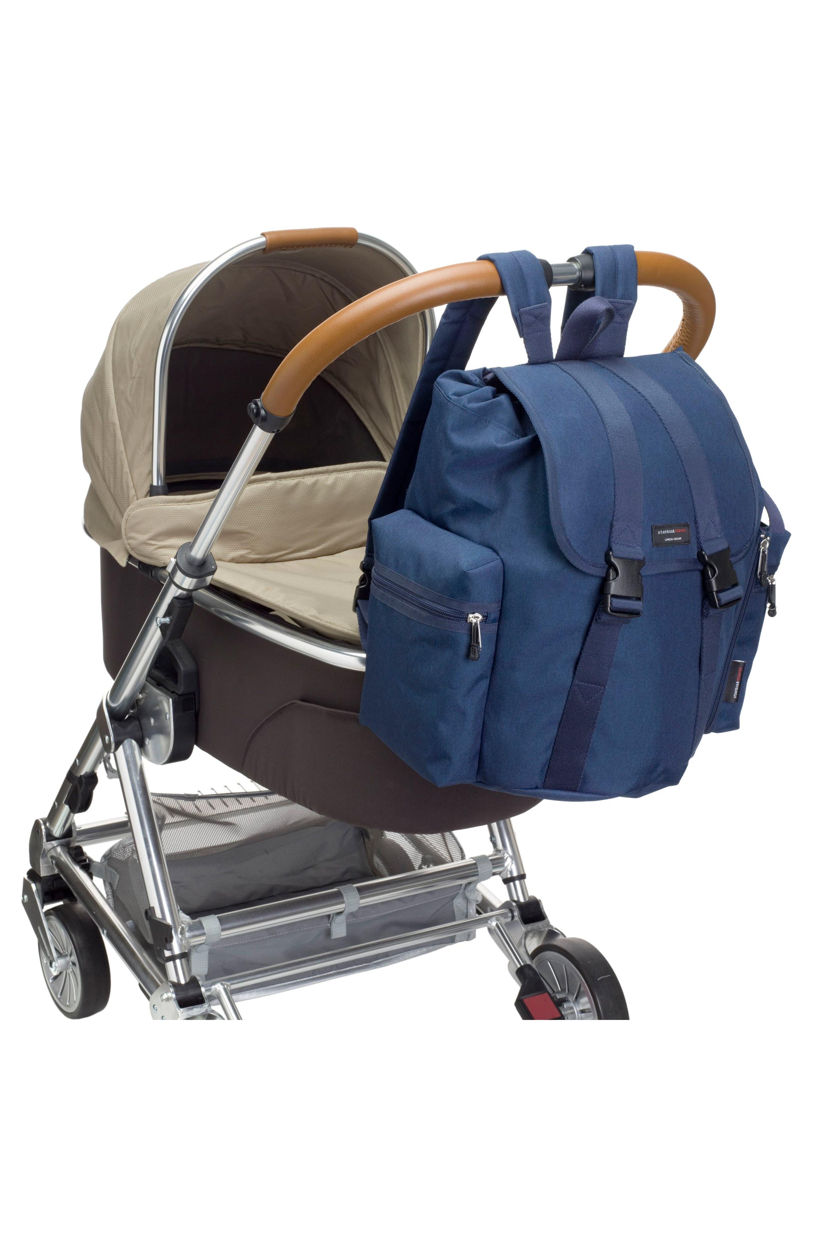 Travel Backpack Diaper Bag,                             Alternate thumbnail 6, color,                             Navy