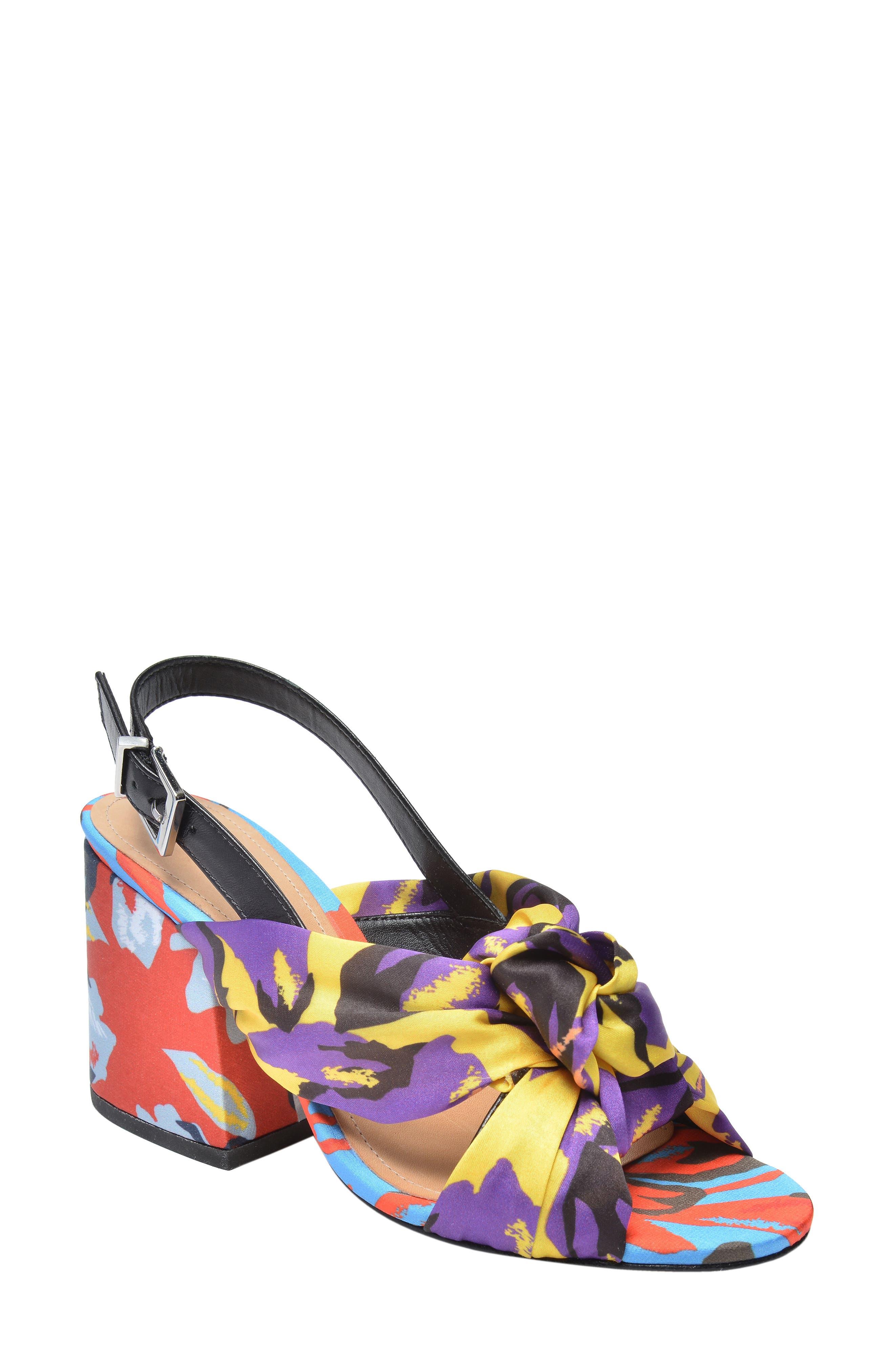 x Adriana Lima Sandal,                             Main thumbnail 1, color,                             Floral Print Fabric