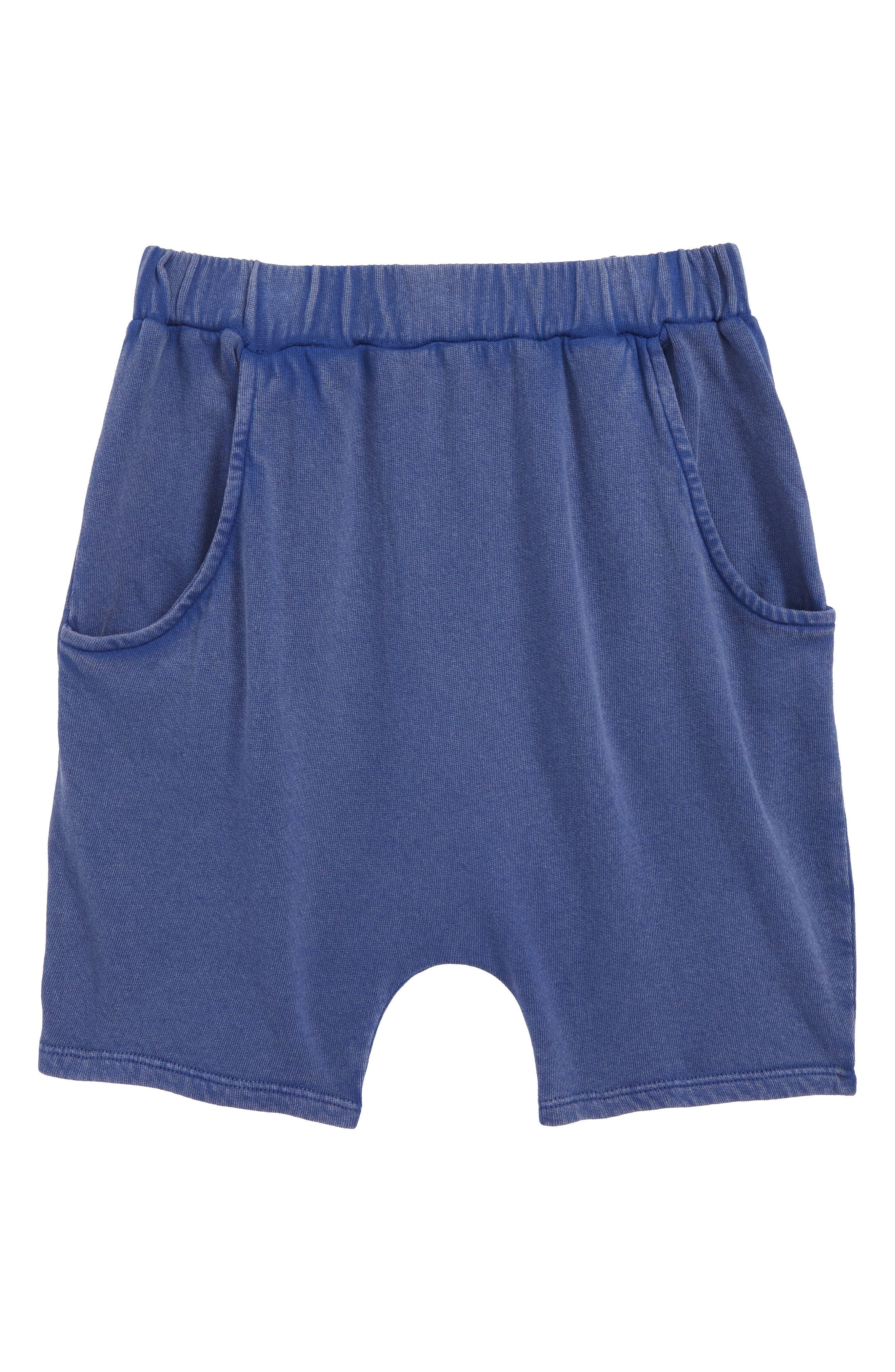 Knit Shorts,                             Main thumbnail 1, color,                             Blue Sodalite Wash