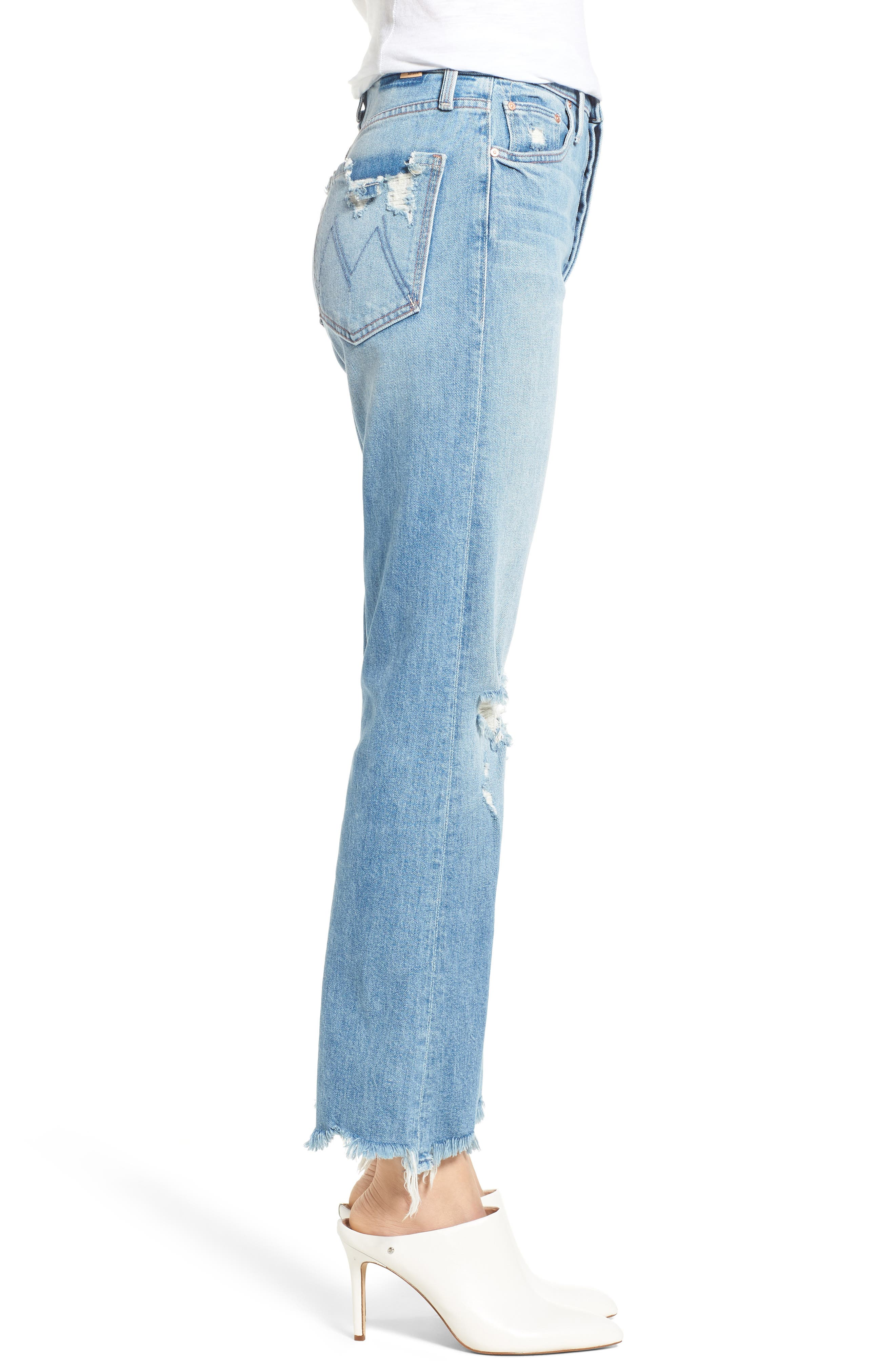 The Tripper Ripped Ankle Flare Jeans,                             Alternate thumbnail 3, color,                             Misbeliever