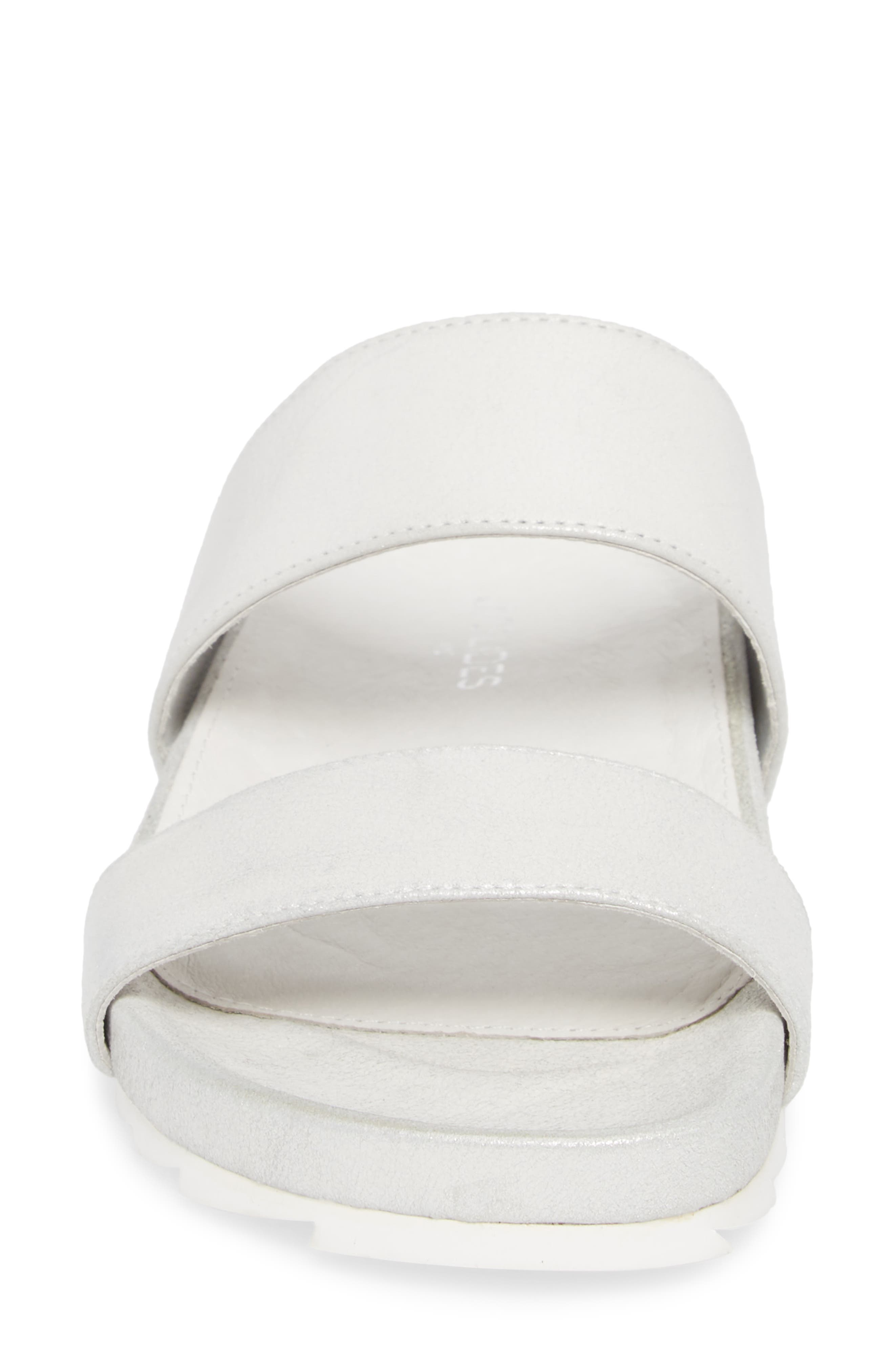 Edie Sandal,                             Alternate thumbnail 4, color,                             Silver Fabric