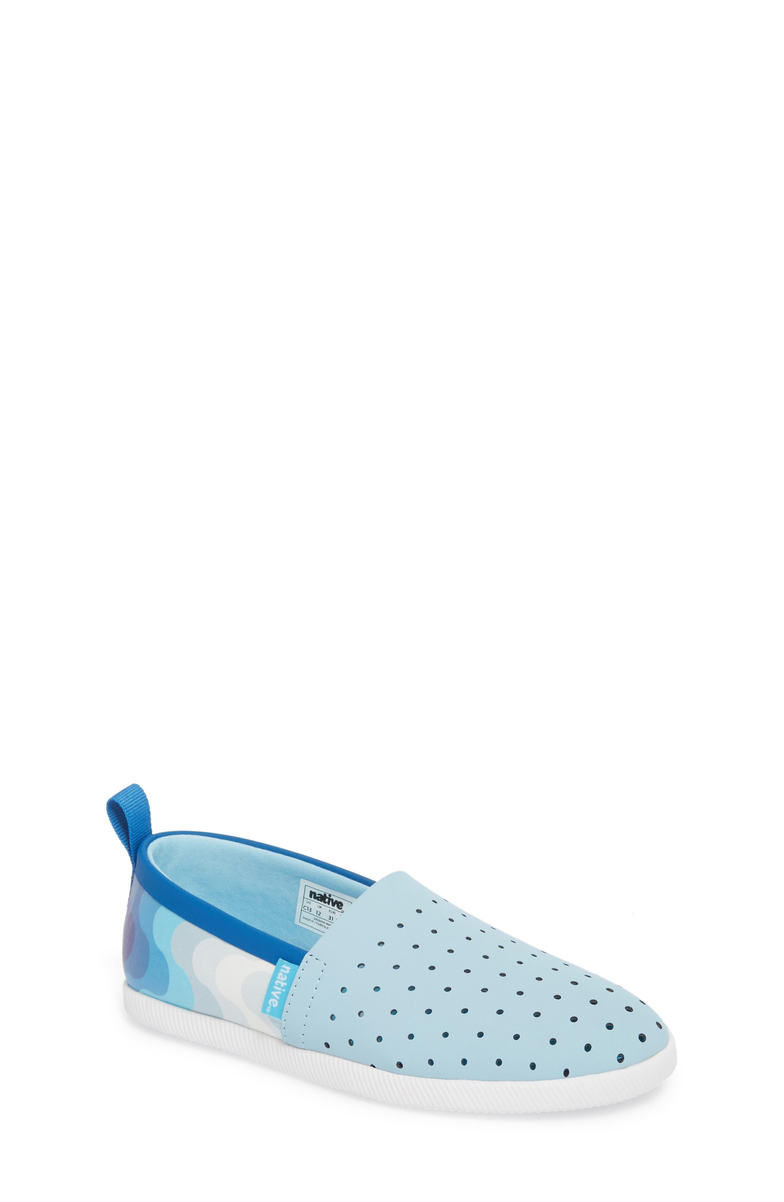 'Venice' Slip-On,                         Main,                         color, Sky Blue/ Shell White/ Wave