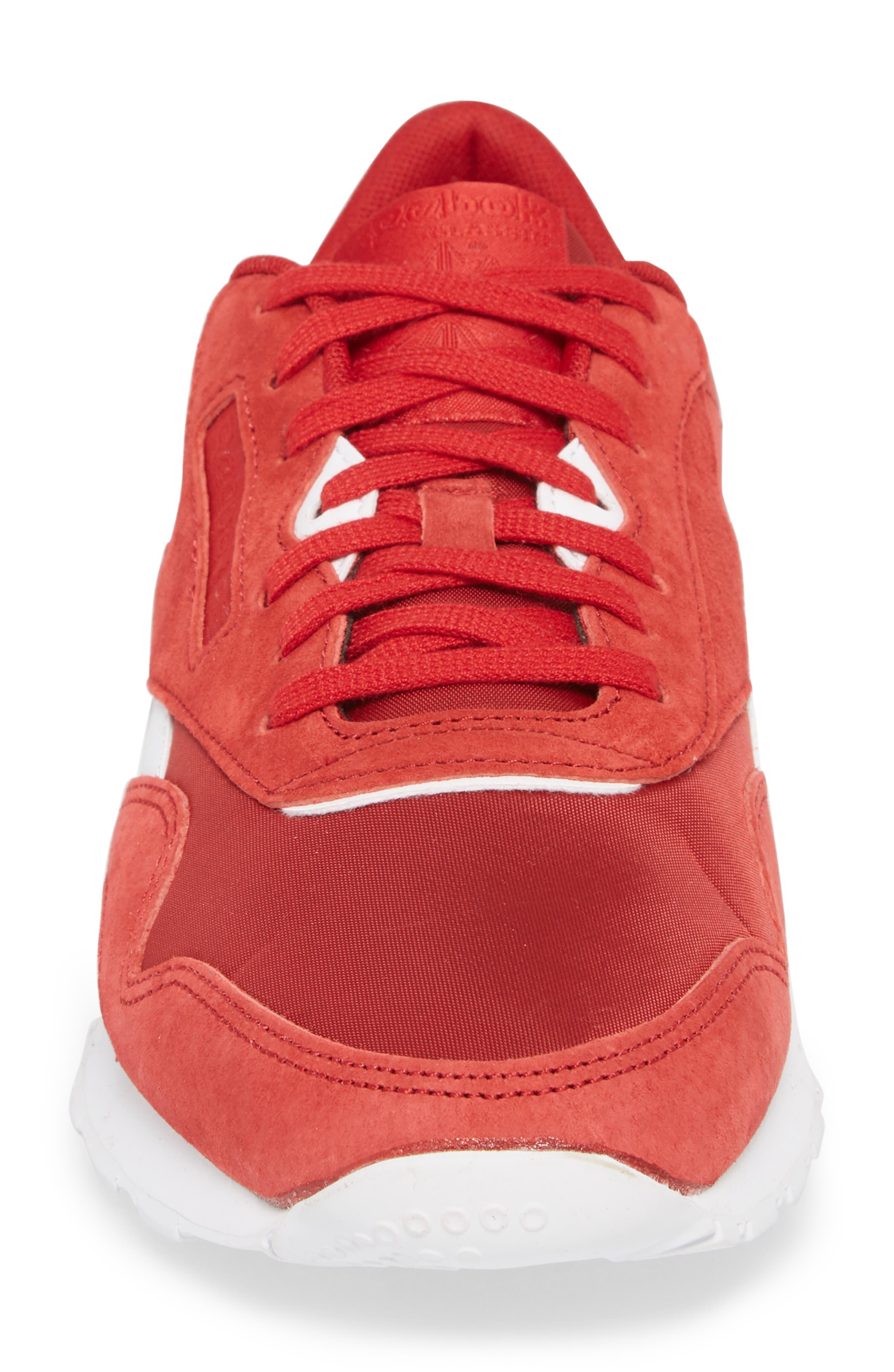 Classic Nylon PN Sneaker,                             Alternate thumbnail 4, color,                             Power Red/ White