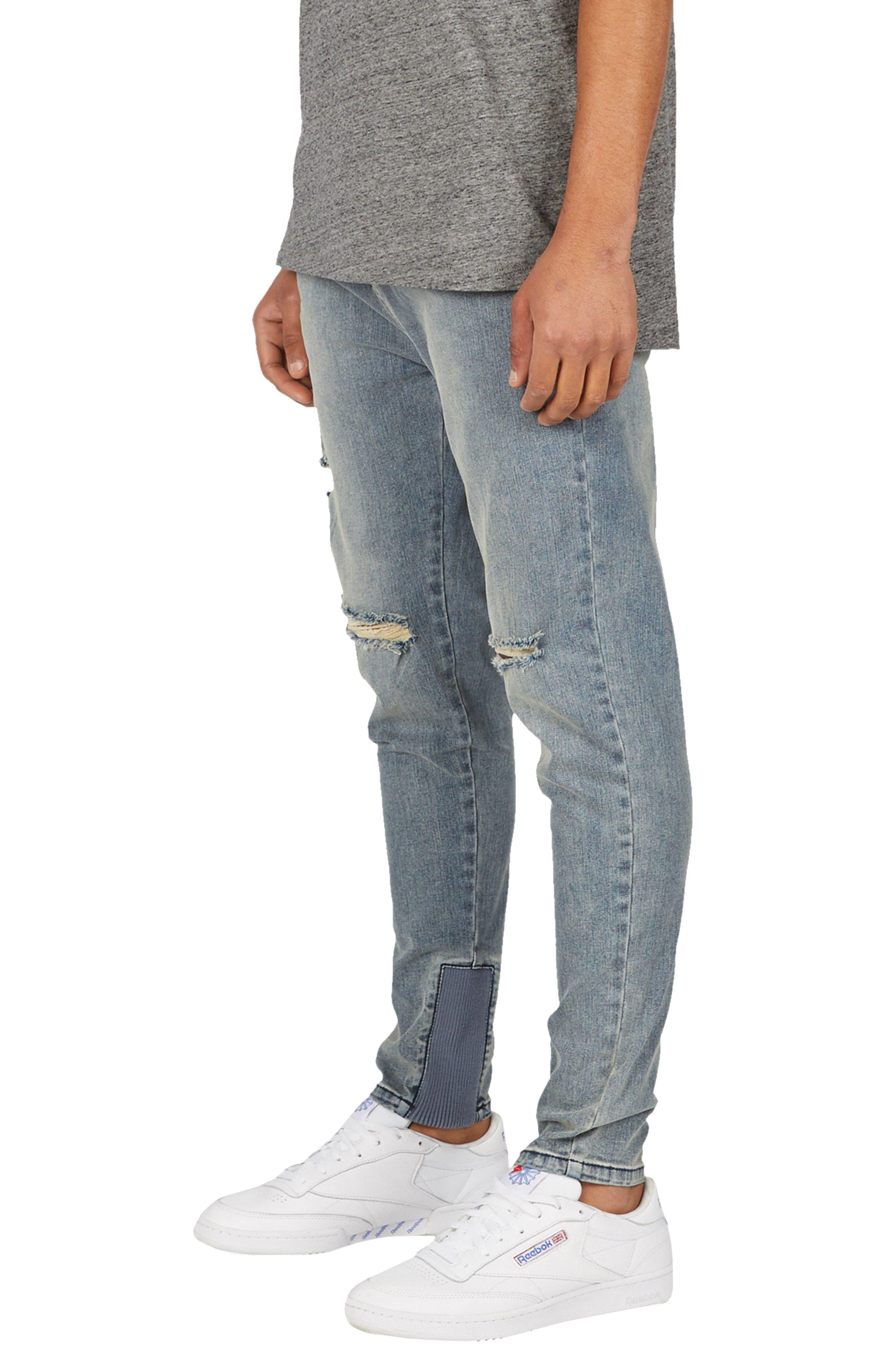 Sharpshot Slouchy Slim Fit Jeans,                             Alternate thumbnail 4, color,                             Double Indigo