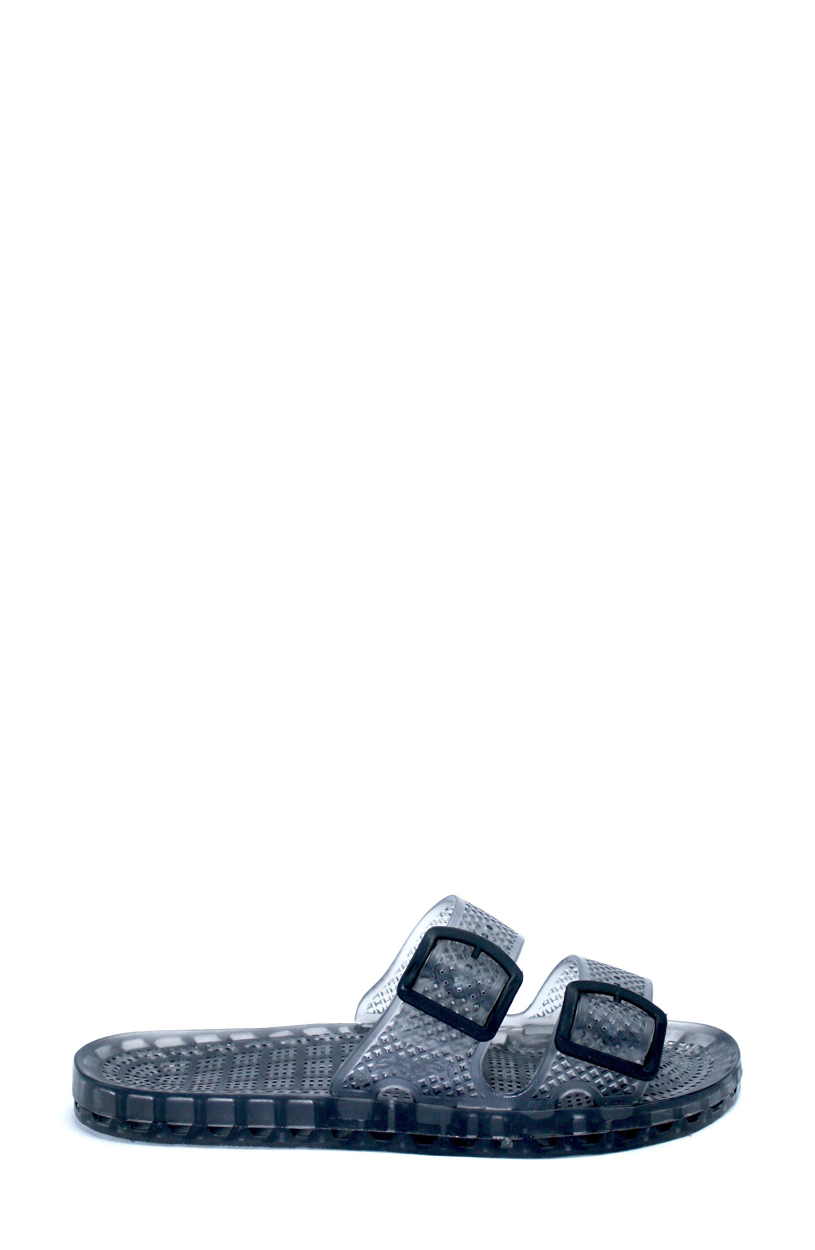 La Jolla Slide Sandal,                             Alternate thumbnail 3, color,                             Smoke Rubber