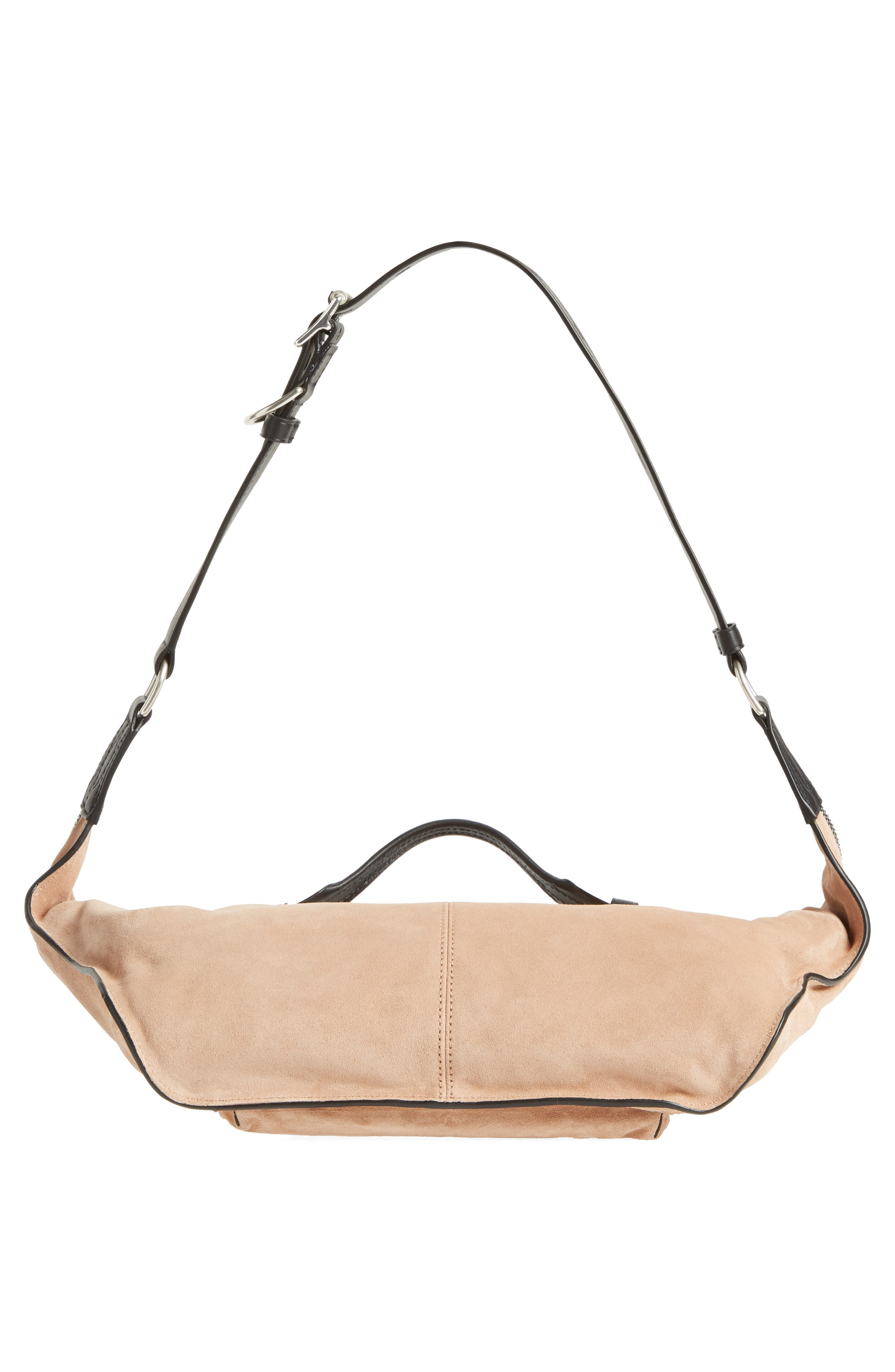 Elliot Leather Fanny Pack,                             Alternate thumbnail 7, color,                             Nude Suede