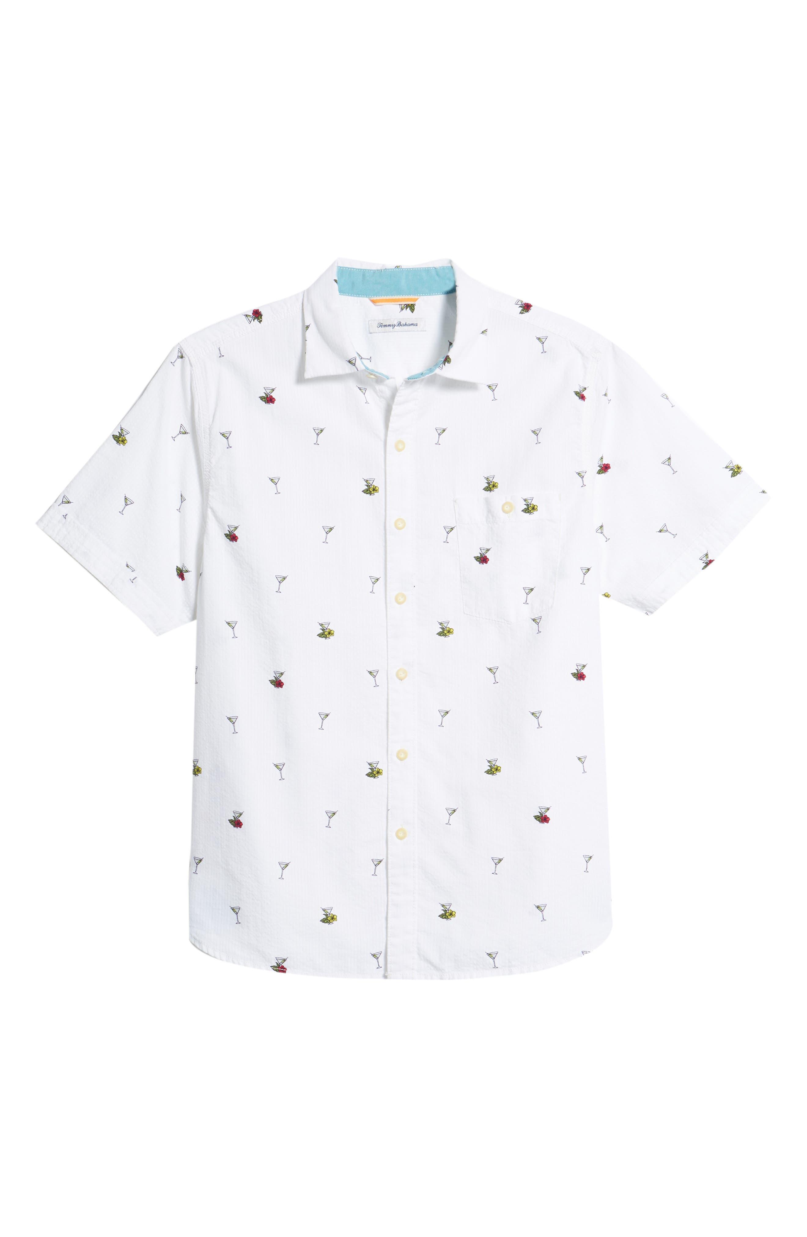 Mix Master Seersucker Shirt,                             Alternate thumbnail 6, color,                             Continental