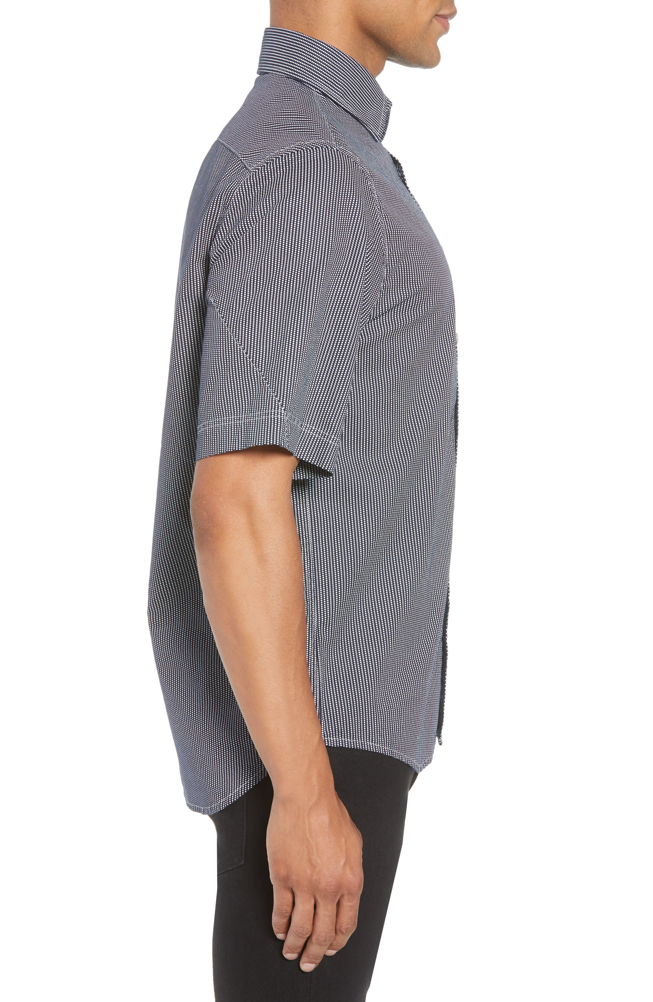 Bristum Straight Ref Shirt,                             Alternate thumbnail 3, color,                             Sartho Blue/ Milk