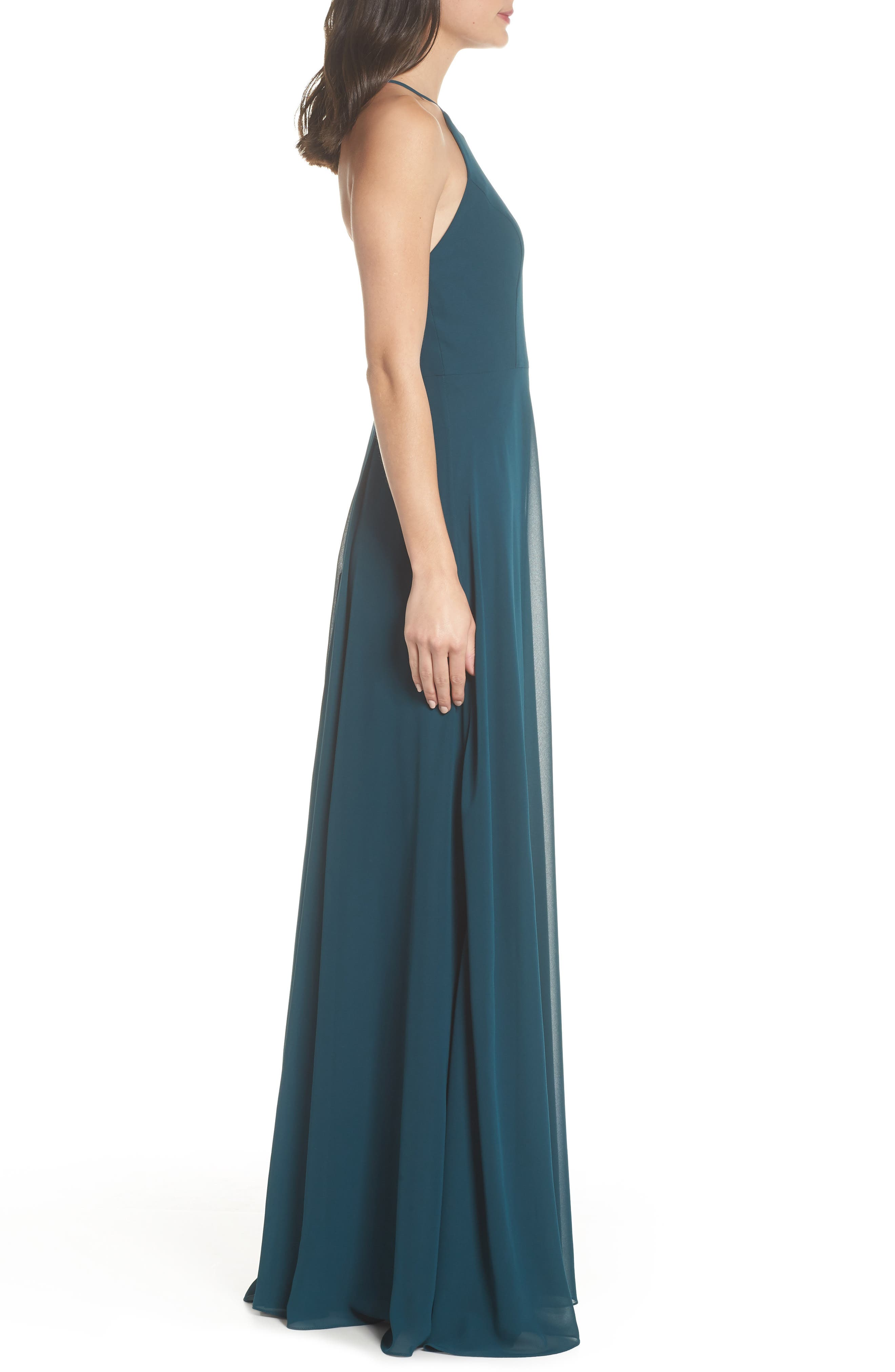 Alternate Image 3  - Jenny Yoo Kayla A-Line Halter Gown