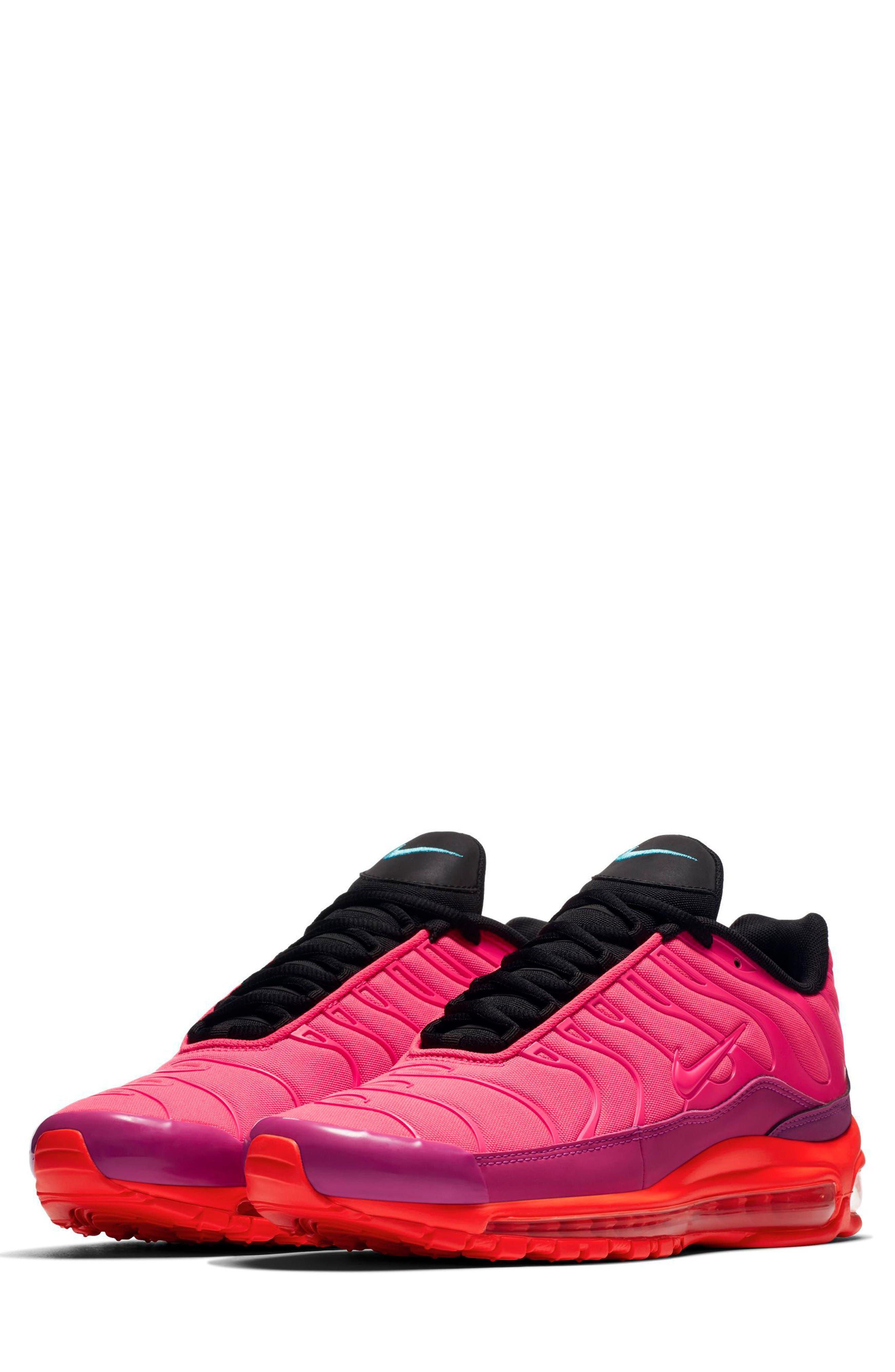 Air Max 97 Plus Sneaker,                             Main thumbnail 1, color,                             Racer Pink/ Magenta/ Crimson