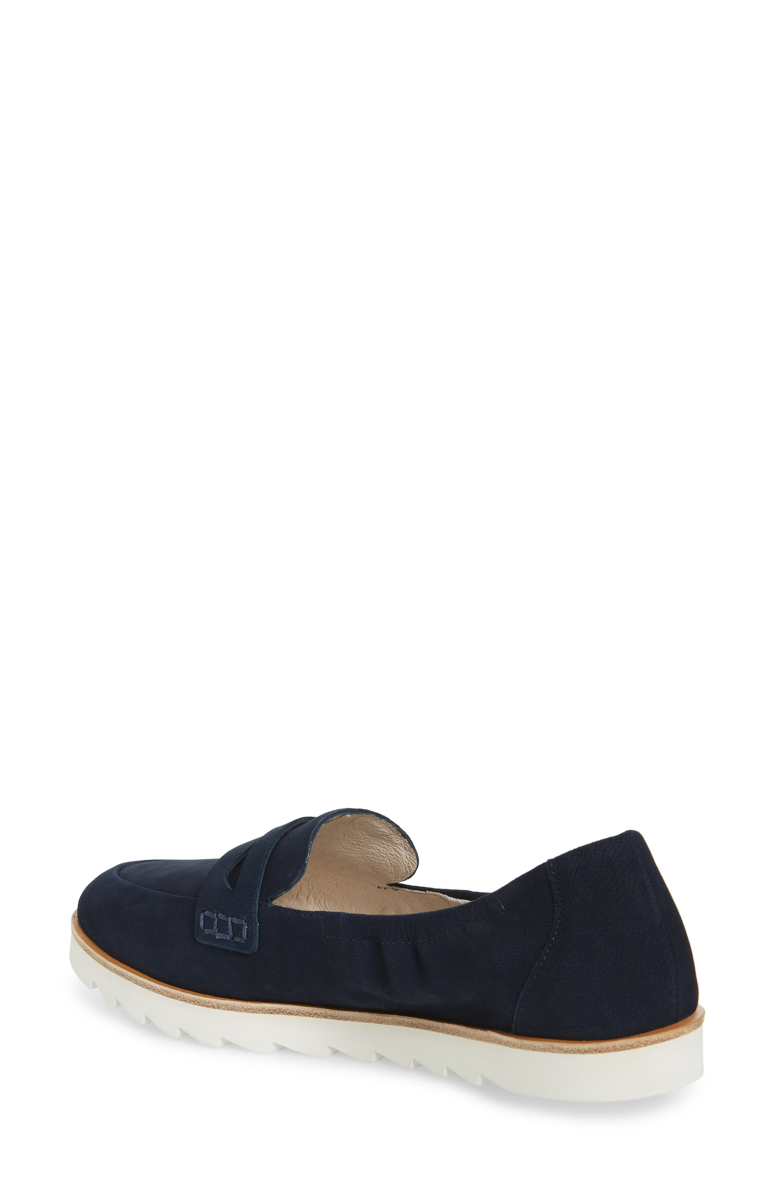 Rylee Penny Loafer,                             Alternate thumbnail 2, color,                             Navy Nubuck