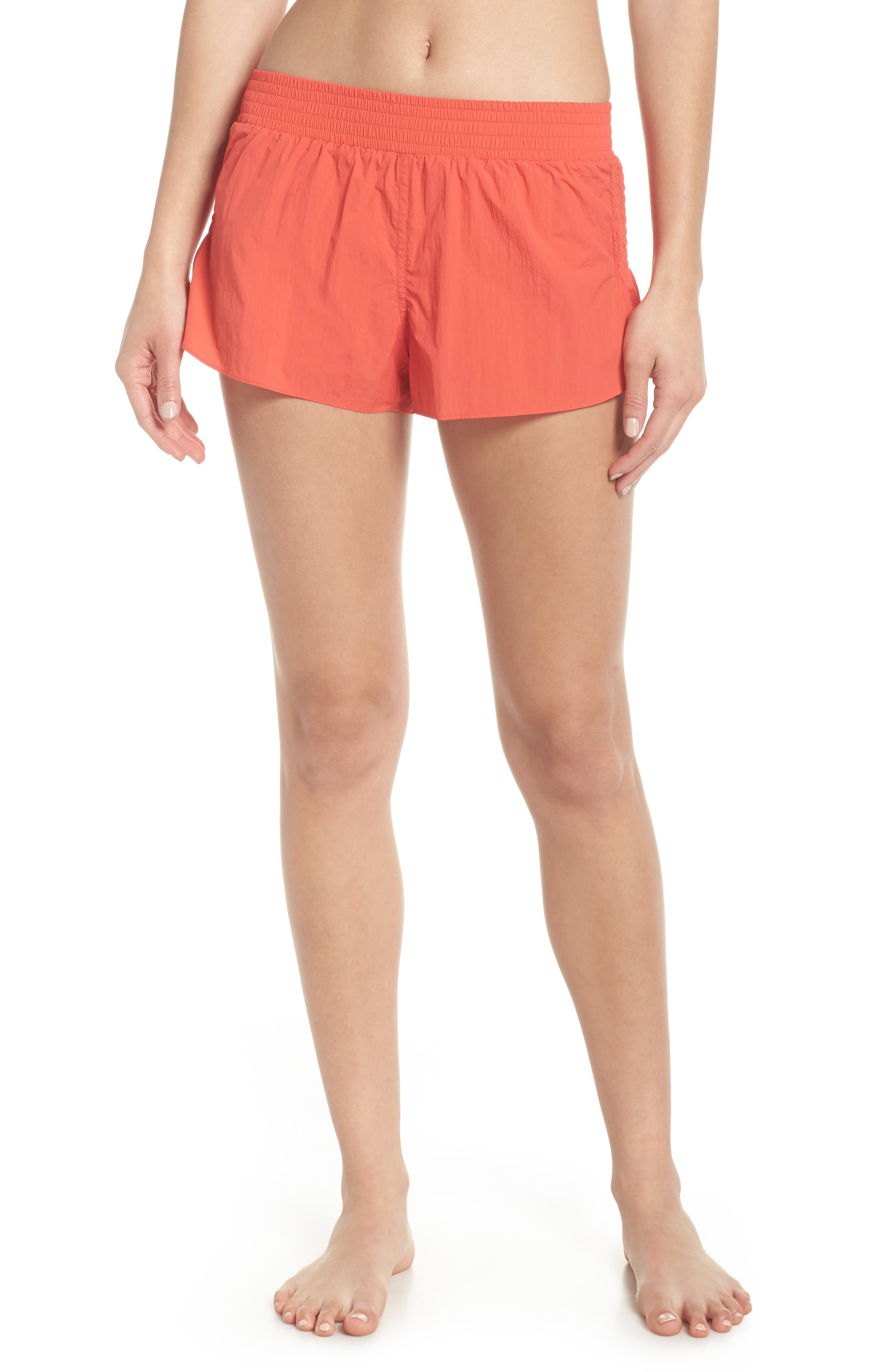 Fuji Shorts,                             Main thumbnail 1, color,                             Coral