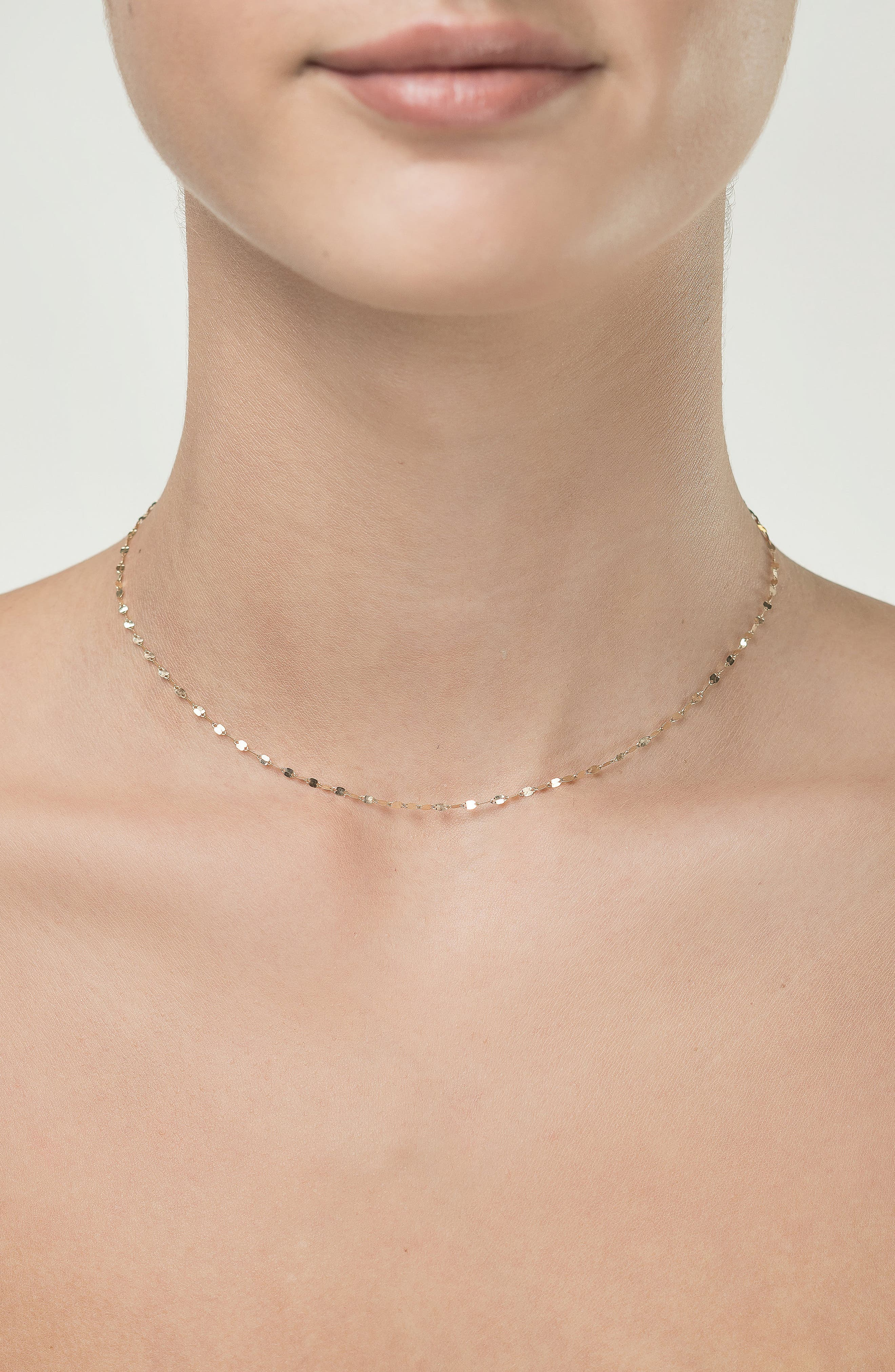 Blake Chain Choker Necklace,                             Alternate thumbnail 2, color,                             Yellow Gold