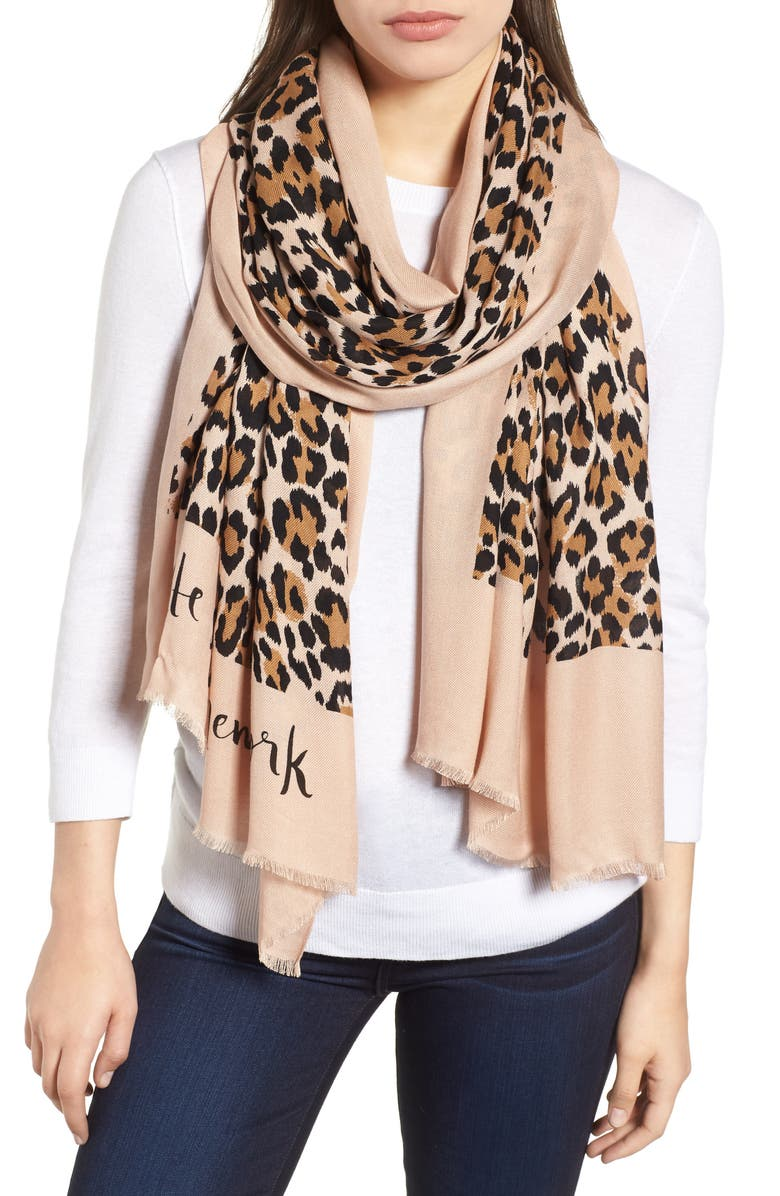 kate spade new york leopard scarf | Nordstrom
