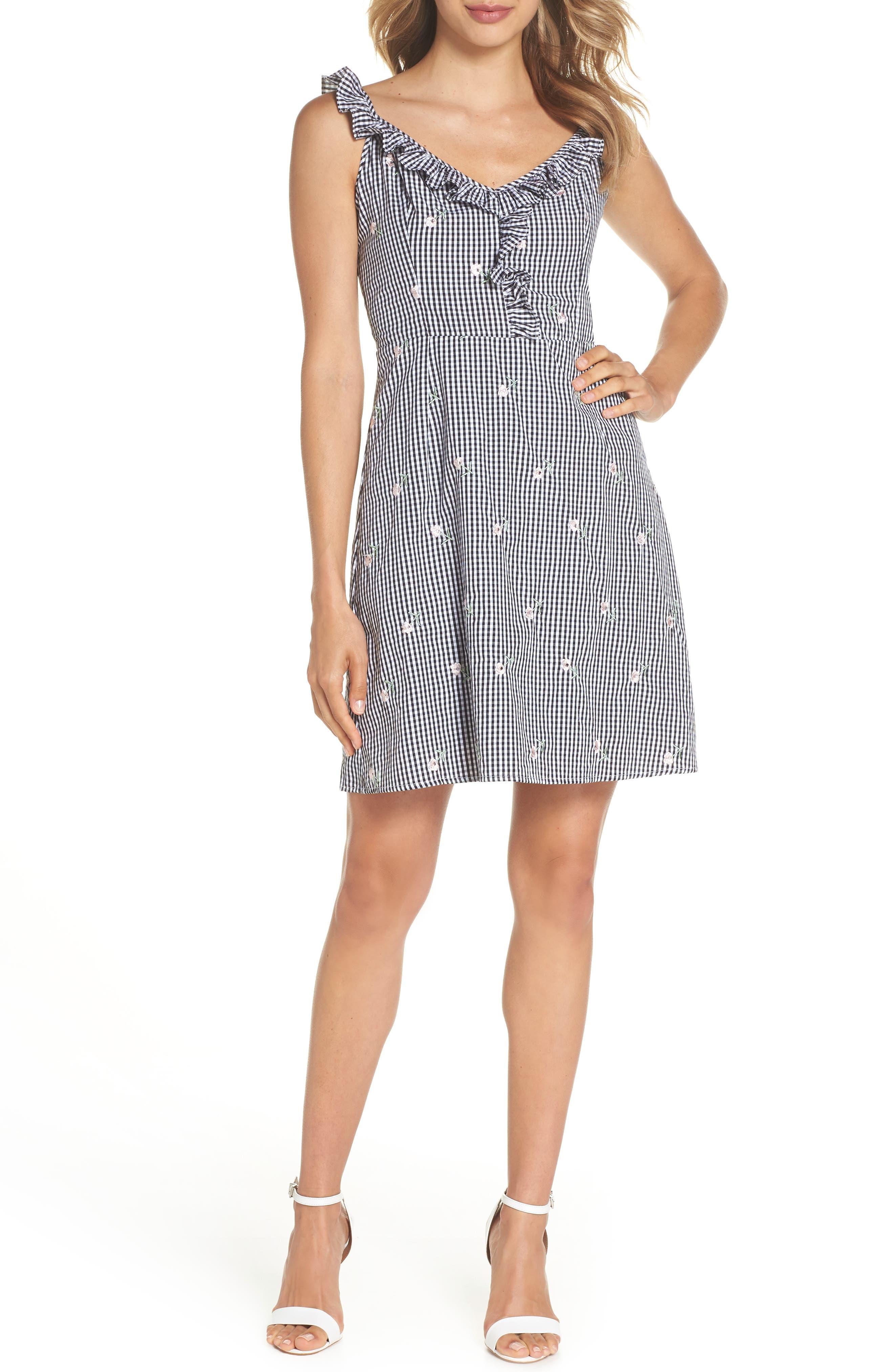Jilly A-Line Cotton Dress,                             Main thumbnail 1, color,                             Multi
