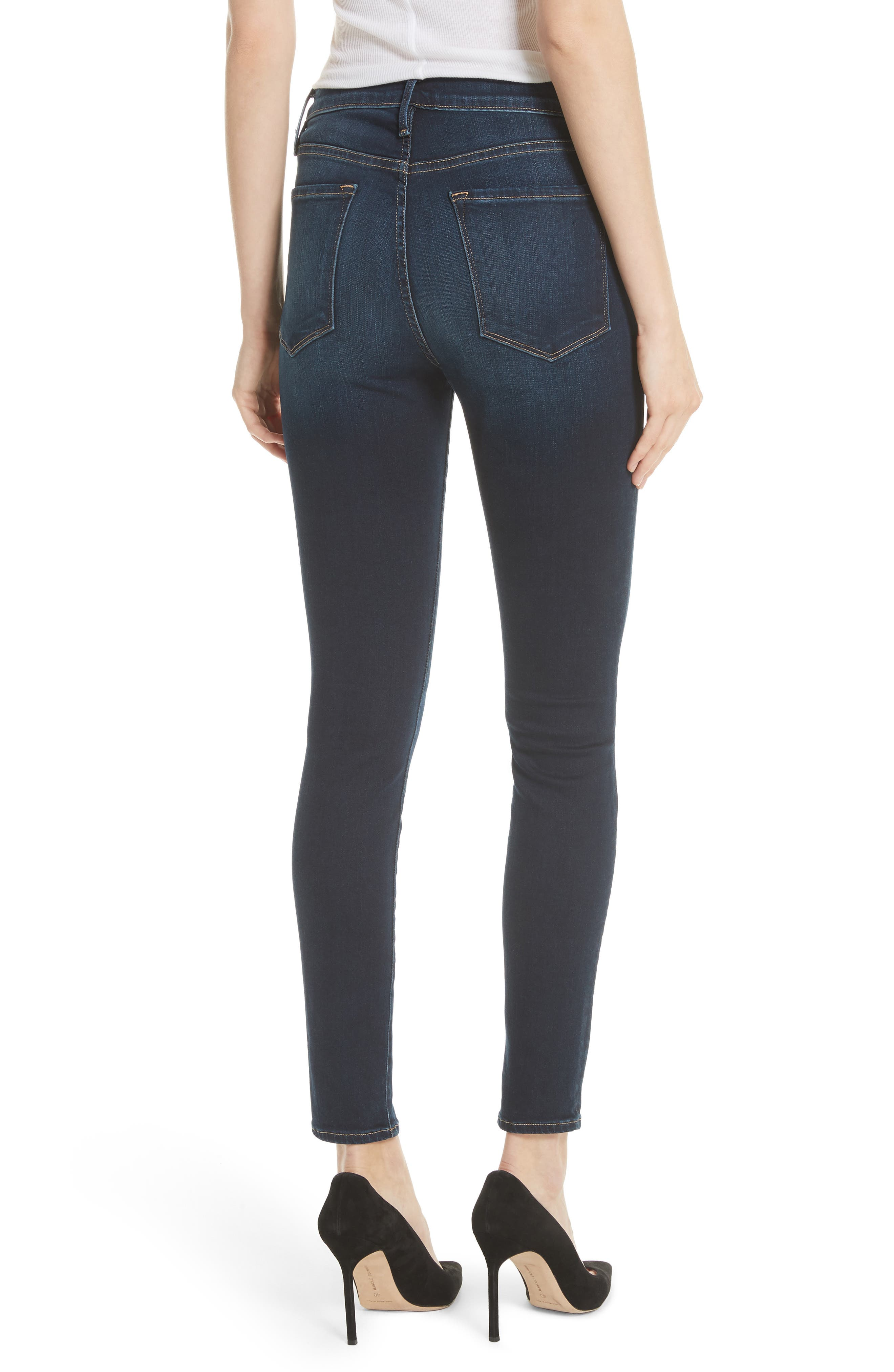 Alternate Image 2  - FRAME Ali High Waist Skinny Jeans (Wayside)