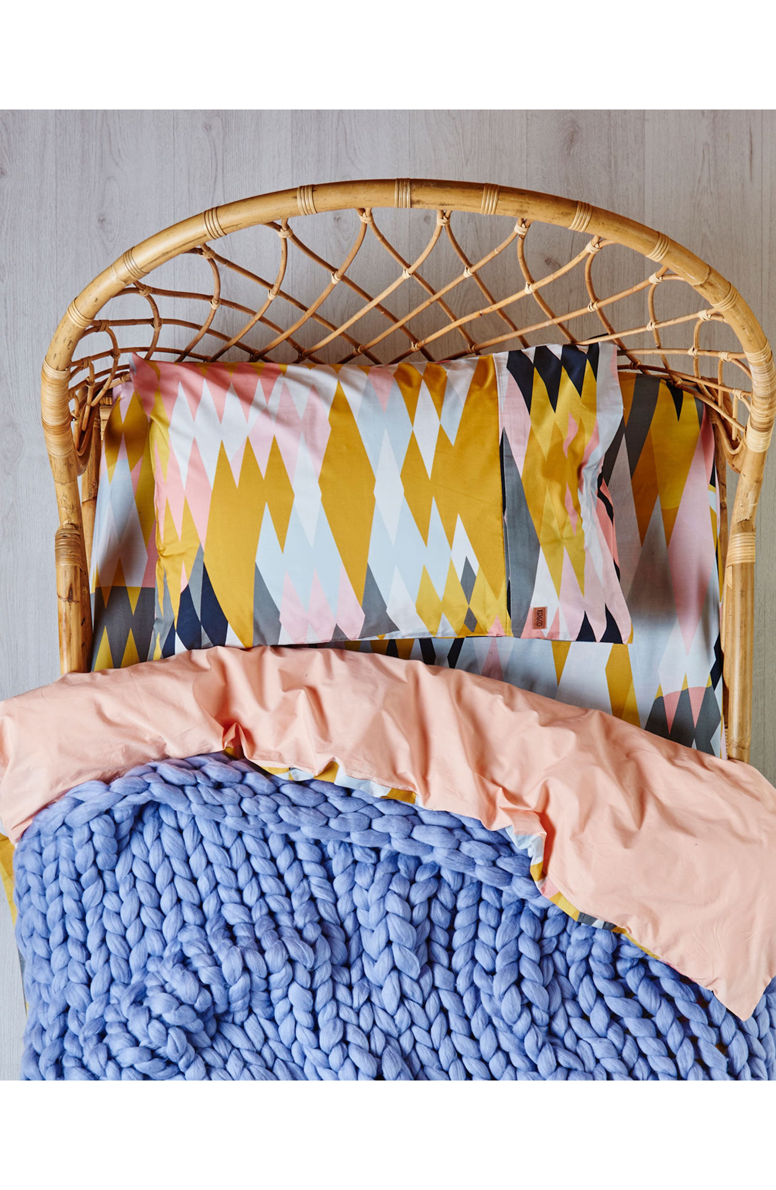 Croc Desert Cotton Pillowcase,                             Alternate thumbnail 2, color,                             Multi