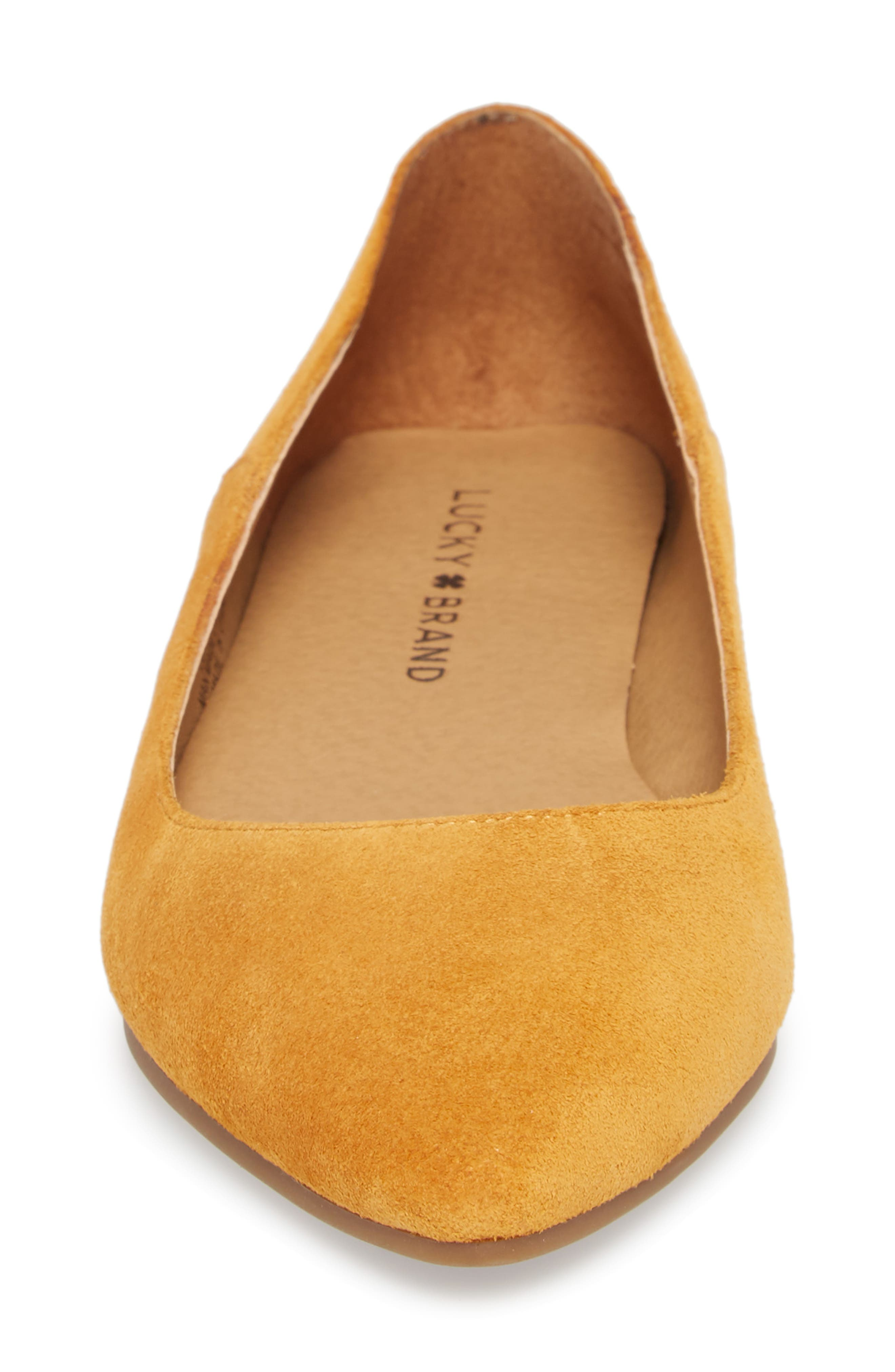Bylando Flat,                             Alternate thumbnail 4, color,                             Inca Gold Suede
