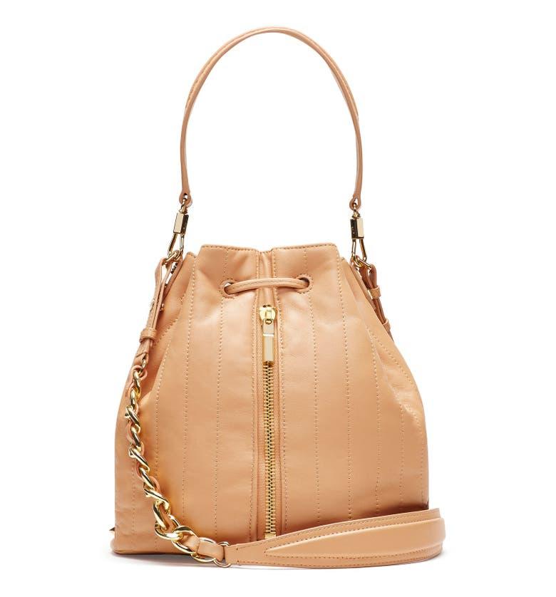 Cynnie Leather Bucket Bag