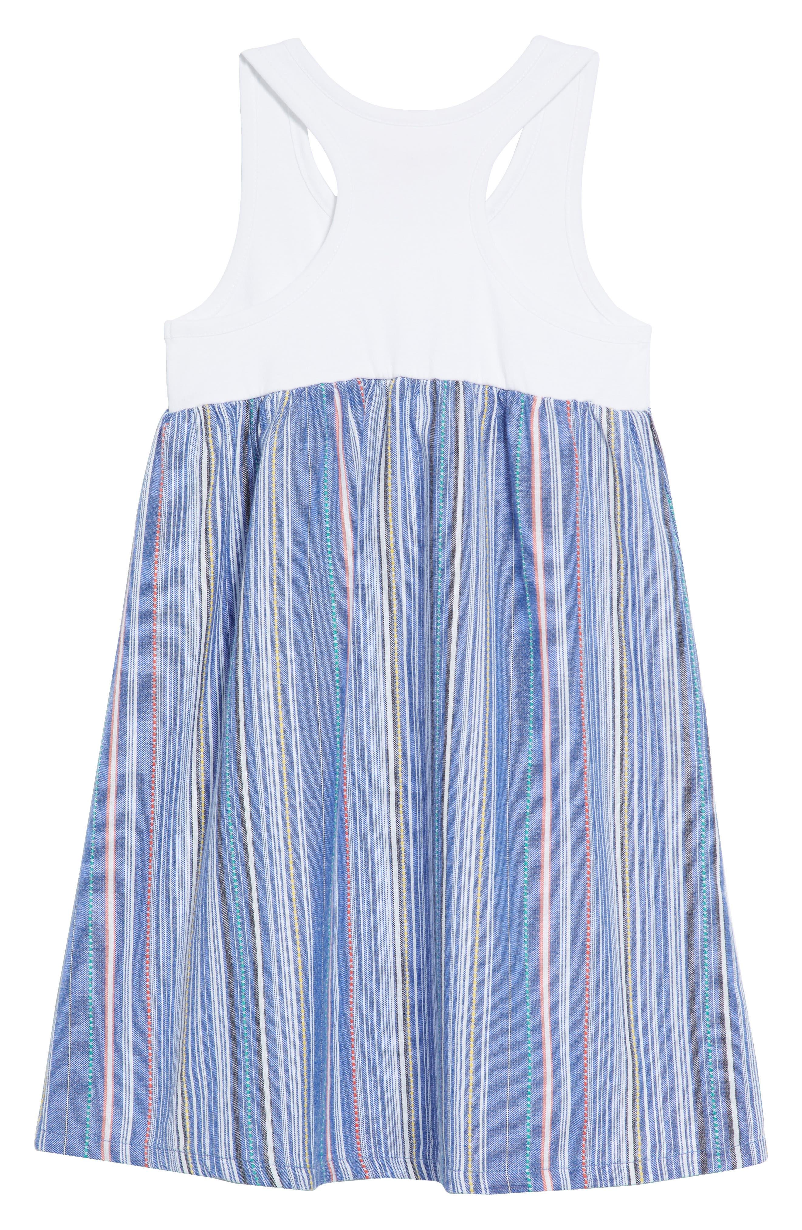 Racerback Tank Dress,                             Alternate thumbnail 2, color,                             Blue Thread Multi Stripe
