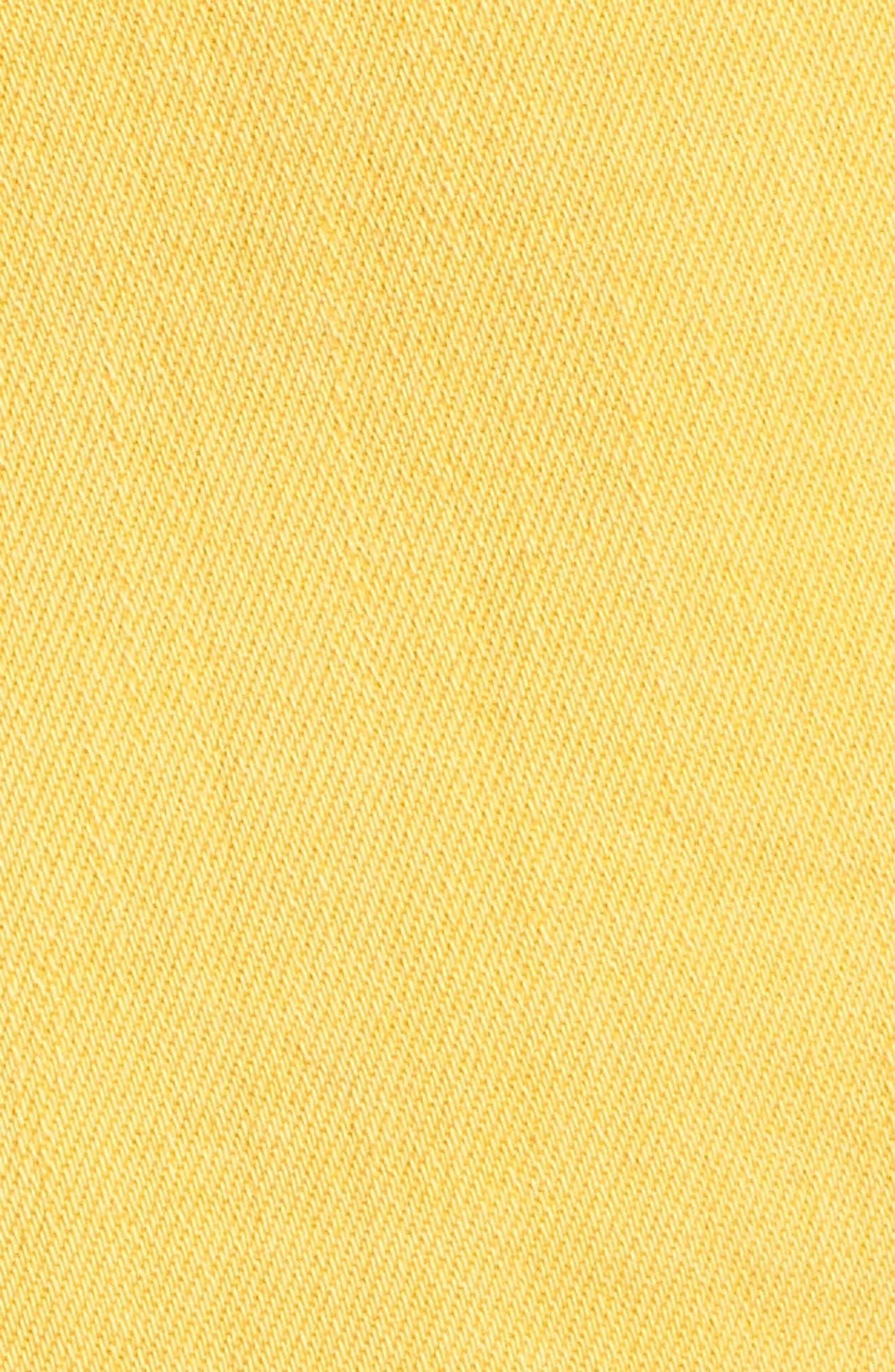 Decon Ripped Denim Shorts,                             Alternate thumbnail 6, color,                             Marigold