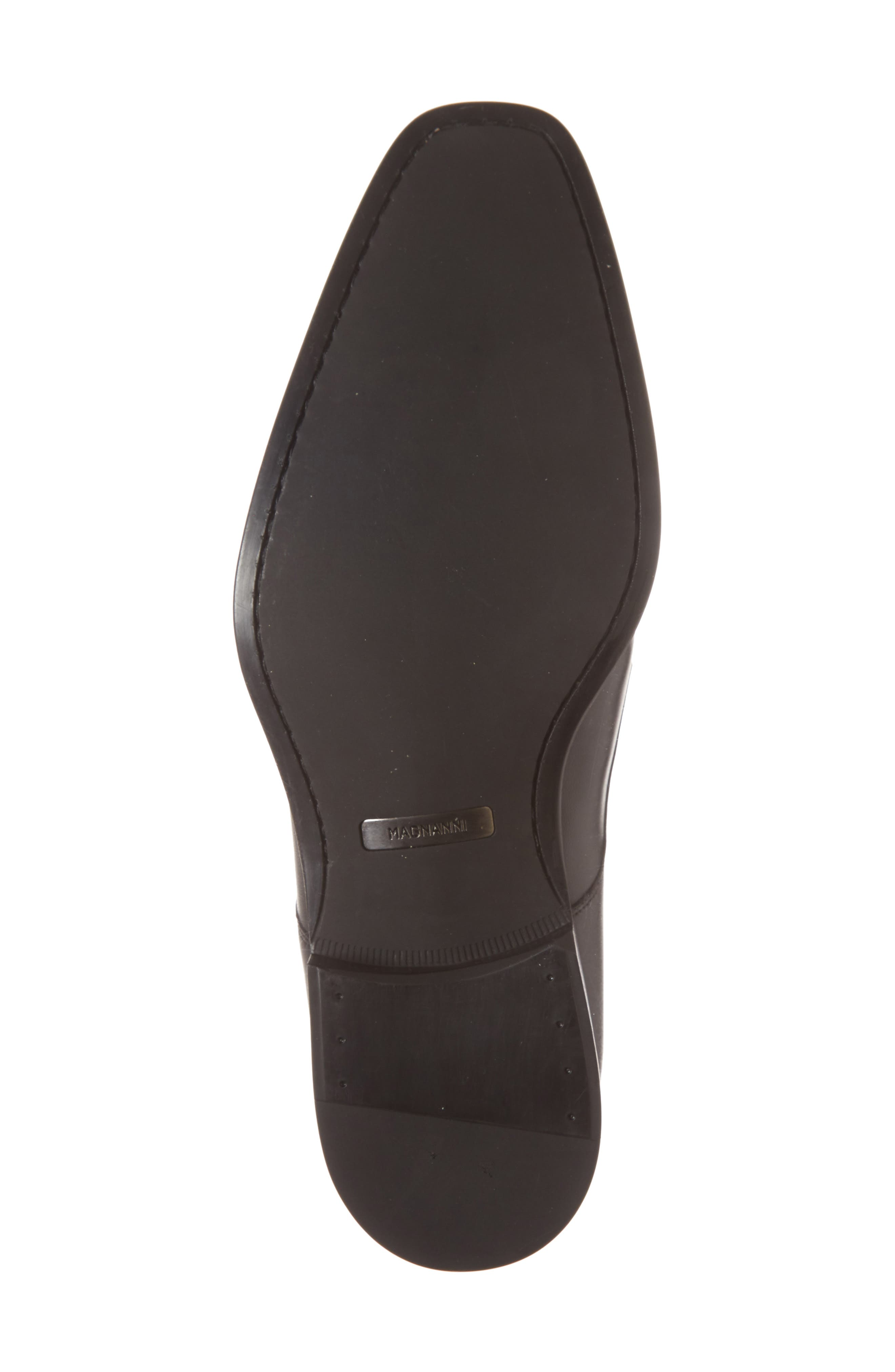 Fabricio Apron Toe Slip-On,                             Alternate thumbnail 3, color,                             Black Leather