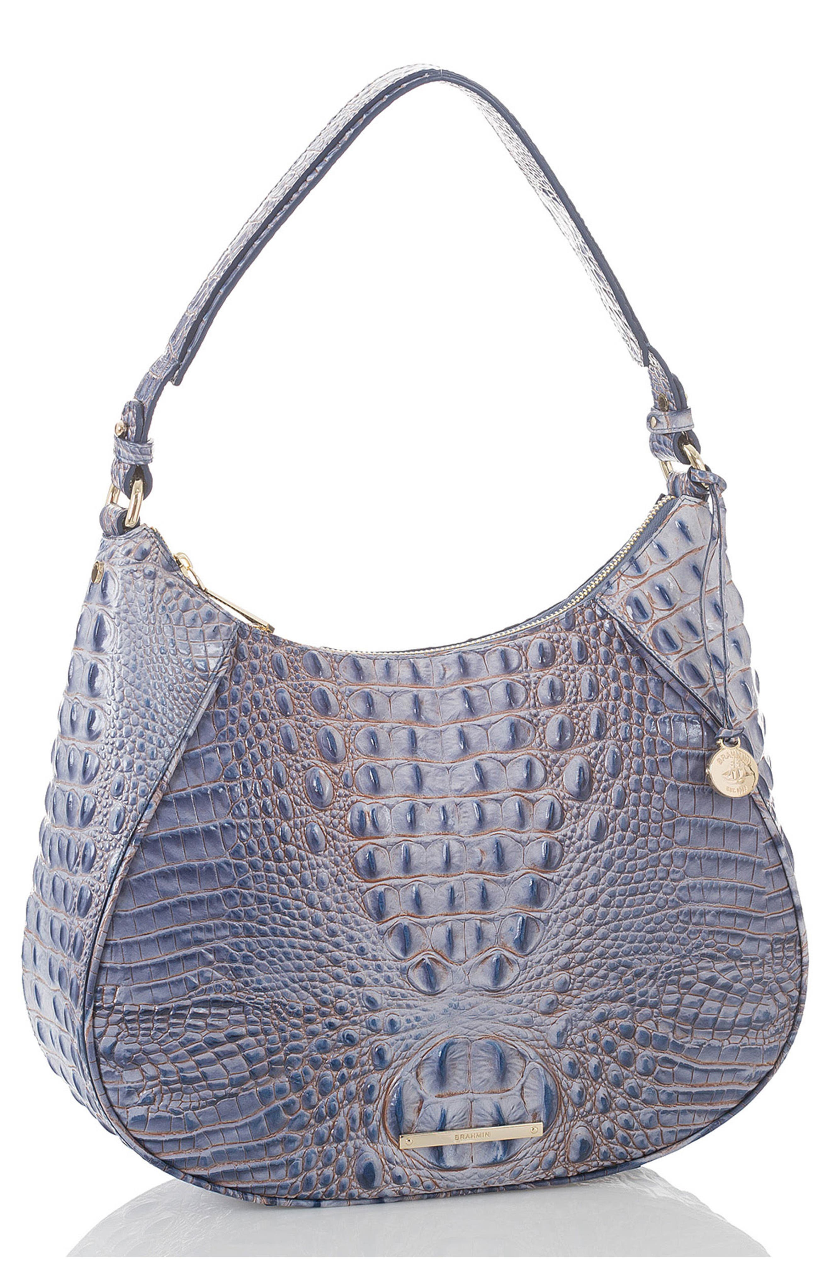 Melbourne Amira Shoulder Bag,                             Alternate thumbnail 4, color,                             Washed Indigo