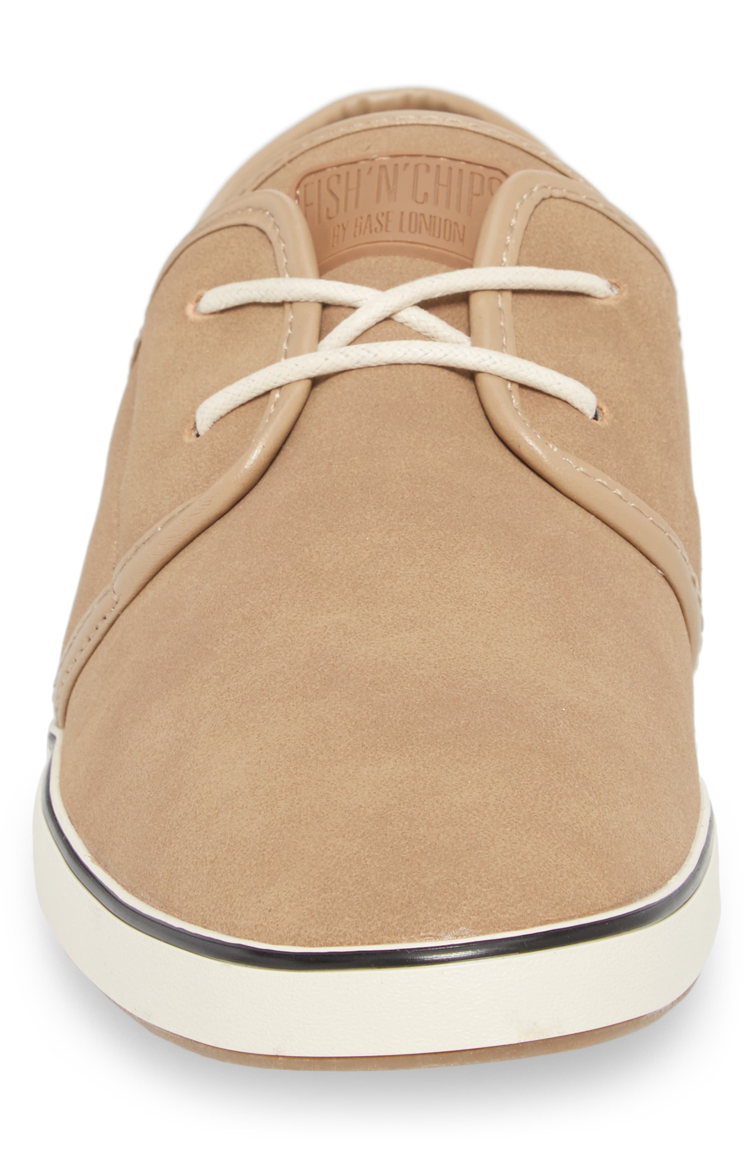 Fish 'N' Chips Surrey Low Top Sneaker,                             Alternate thumbnail 4, color,                             Soft Clay Faux Suede