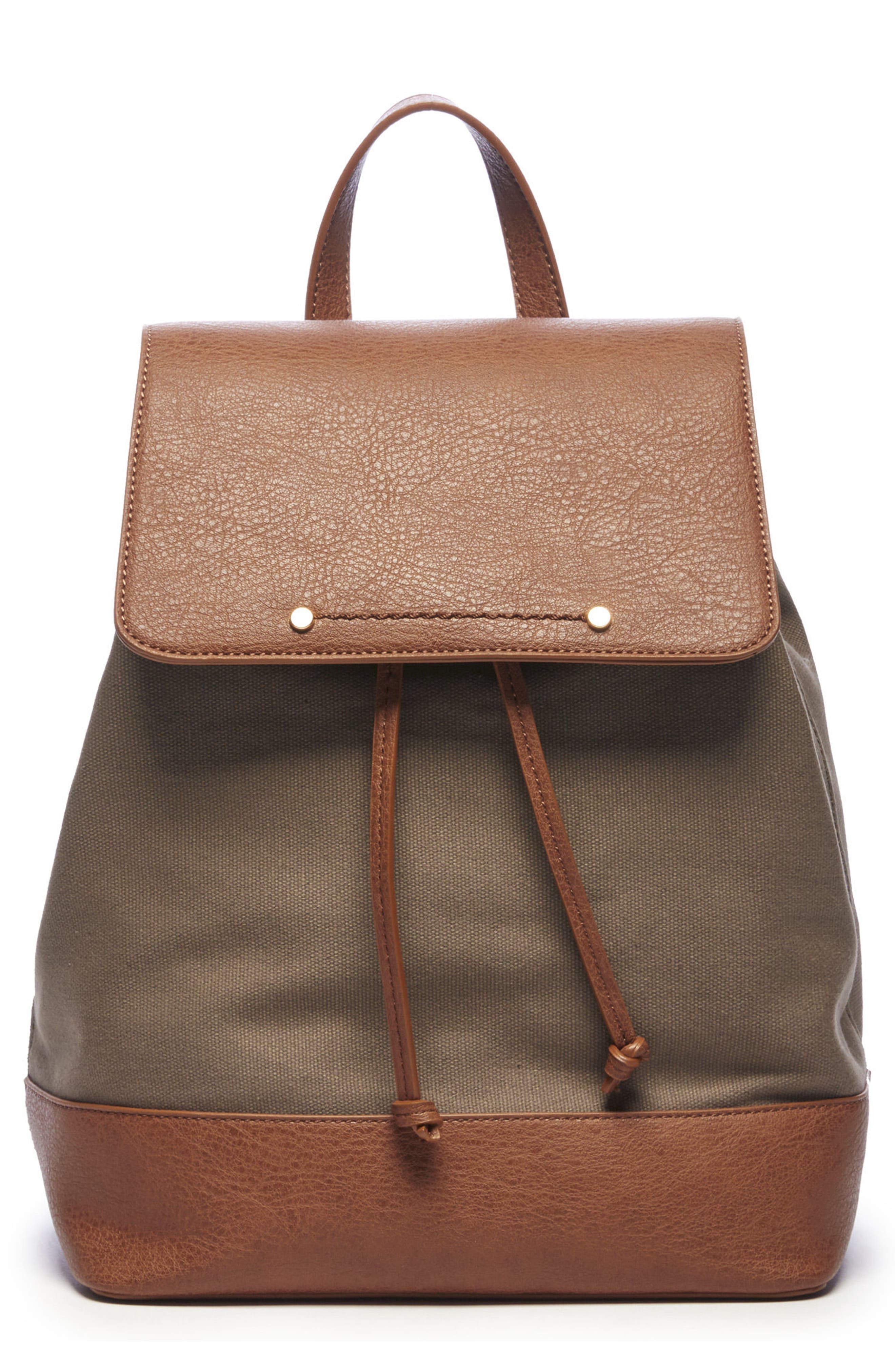 Sole Society Canvas & Faux Leather Backpack