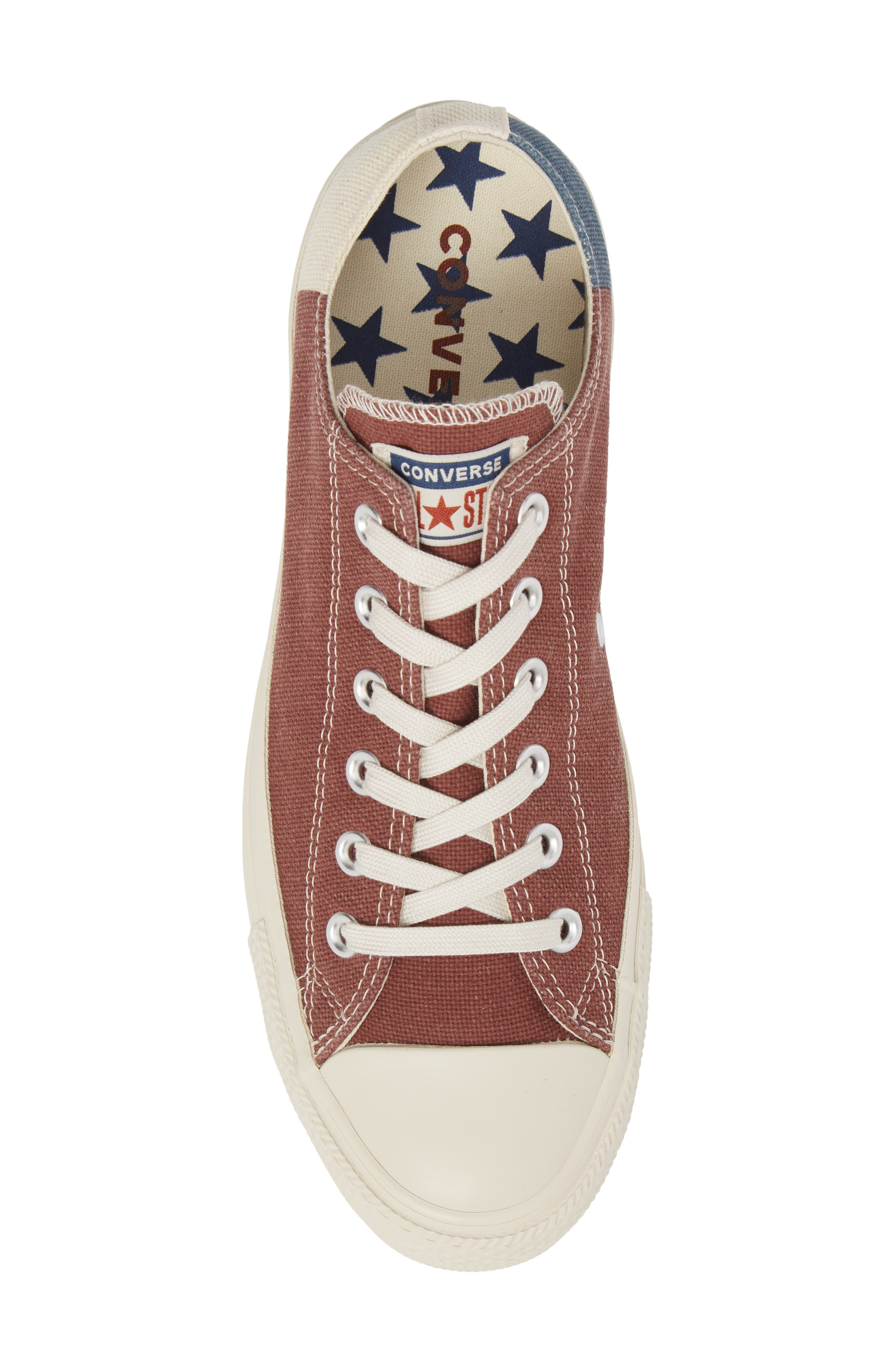 Chuck Taylor<sup>®</sup> All Star<sup>®</sup> Jute Americana Low Top Sneaker,                             Alternate thumbnail 5, color,                             Aegean Storm