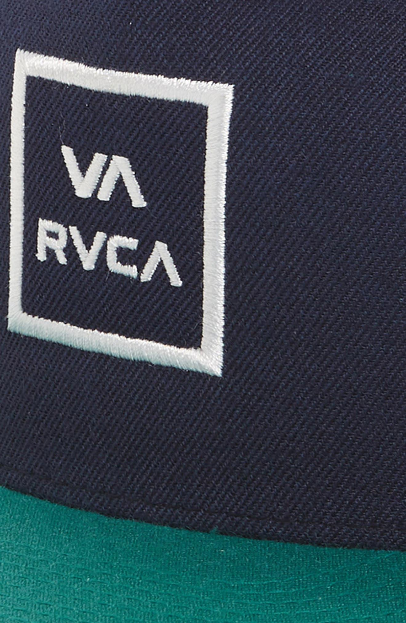 VA All the Way Trucker Hat,                             Alternate thumbnail 3, color,                             Navy/ Teal