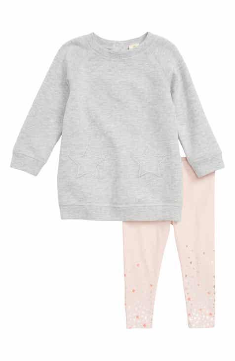 Nordstrom baby clothing shoes accessories nordstrom tucker tate fleece sweatshirt dress leggings set baby girls negle Choice Image