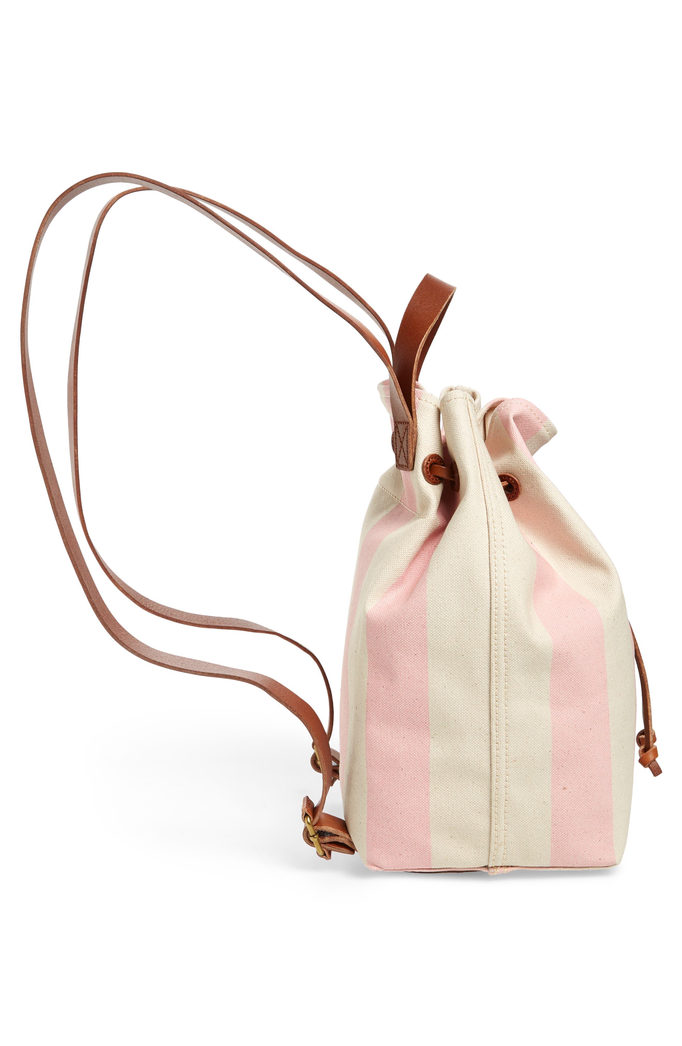 Somerset Canvas Backpack,                             Alternate thumbnail 5, color,                             Petal Pink Stripe