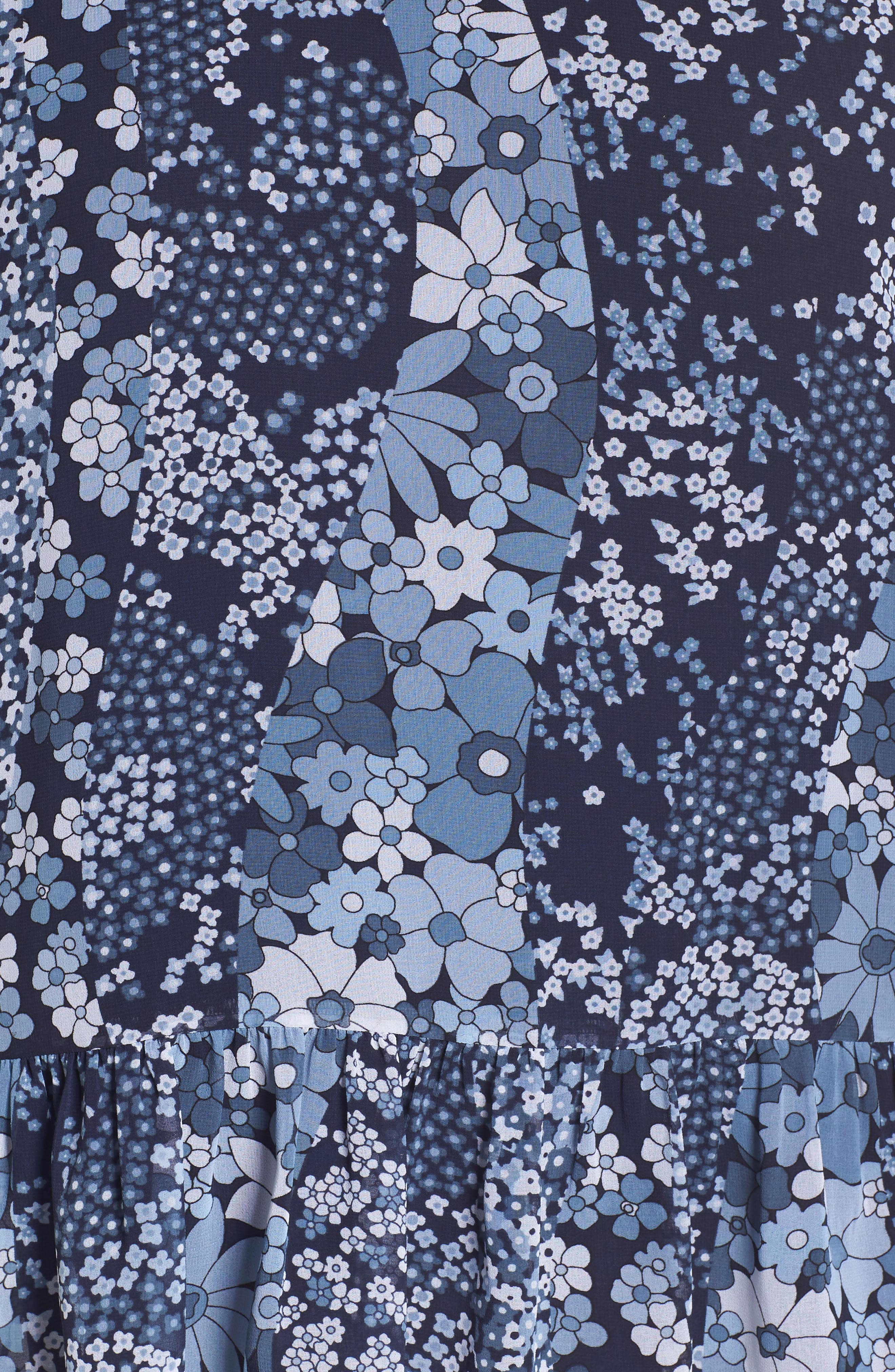 Patchwork Flowers Top,                             Alternate thumbnail 6, color,                             True Navy/ Light Chambray