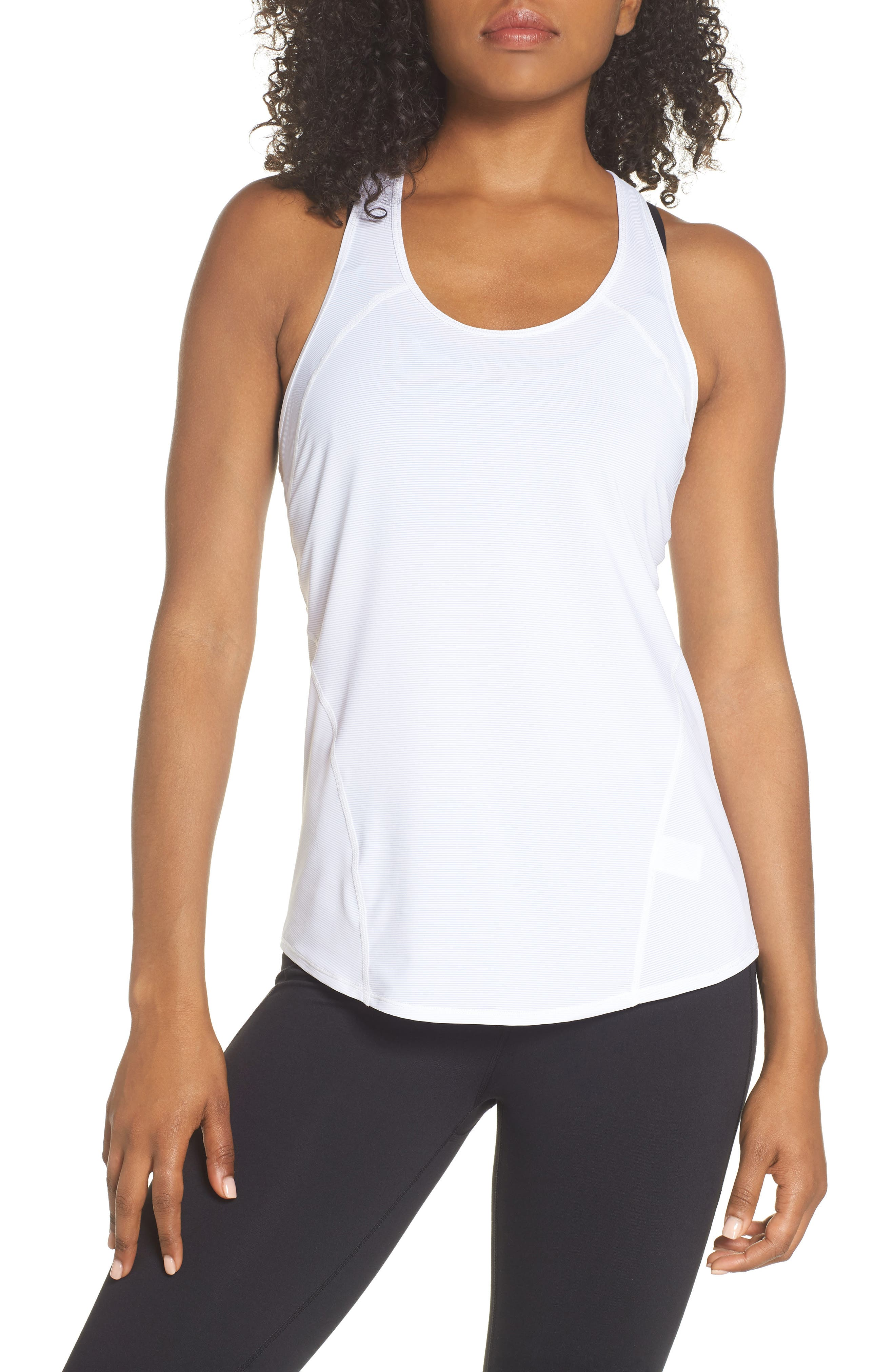 Pace Racerback Tank,                         Main,                         color, White
