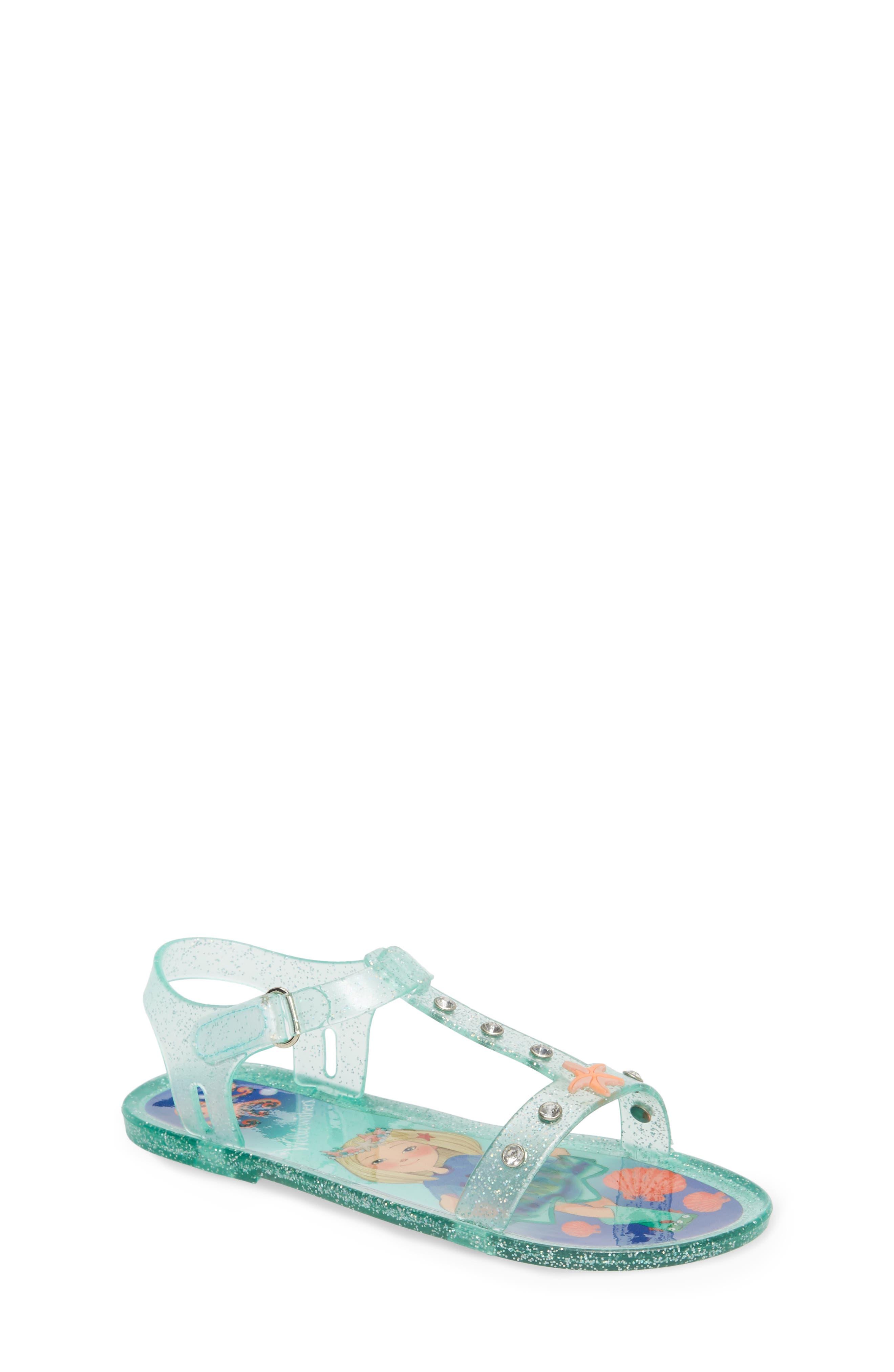 Camille Glitter Jelly Sandal,                             Main thumbnail 1, color,                             Beach Glass