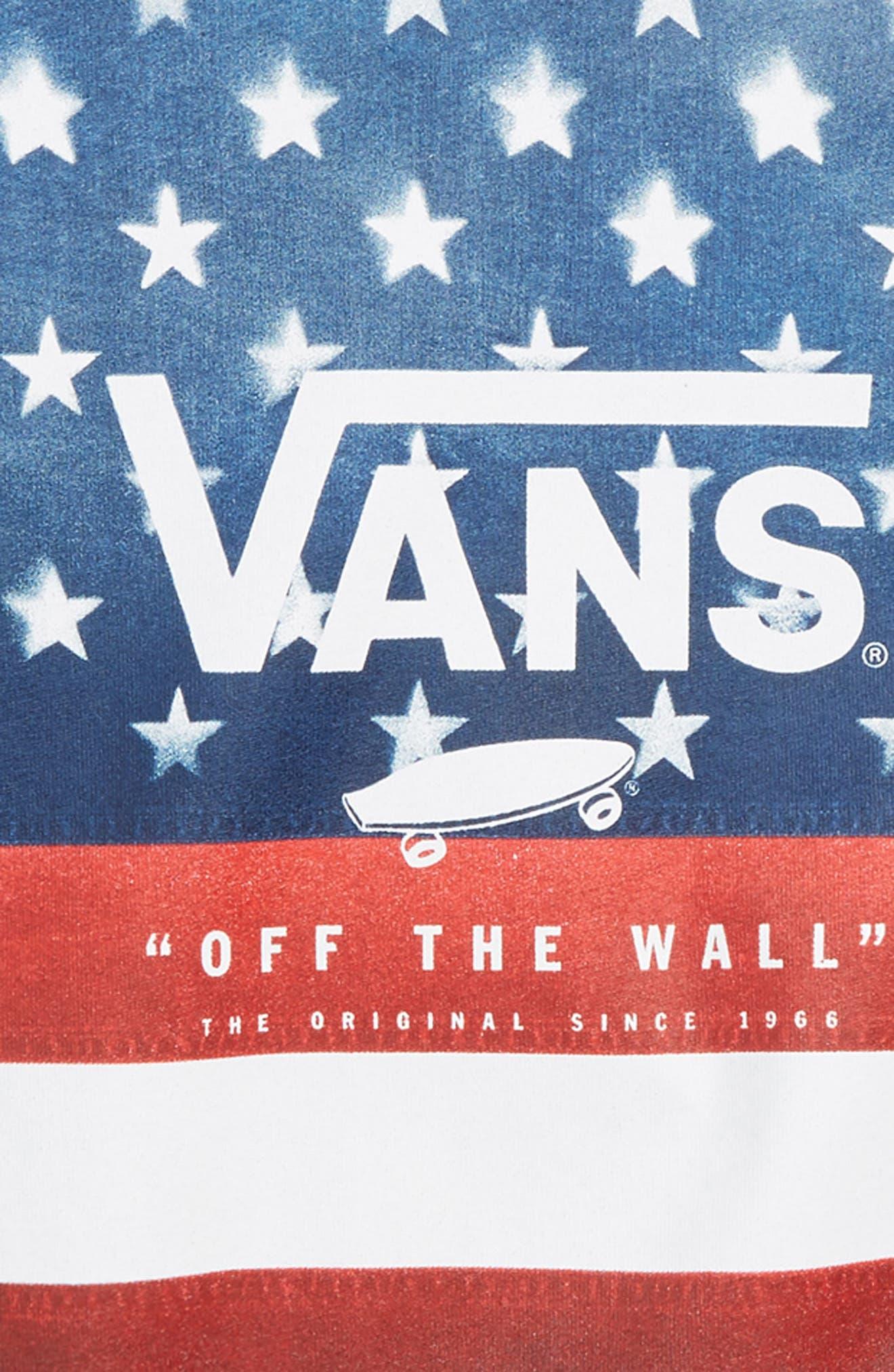 Logo Box Graphic T-Shirt,                             Alternate thumbnail 2, color,                             Dress Blues/ American Flag