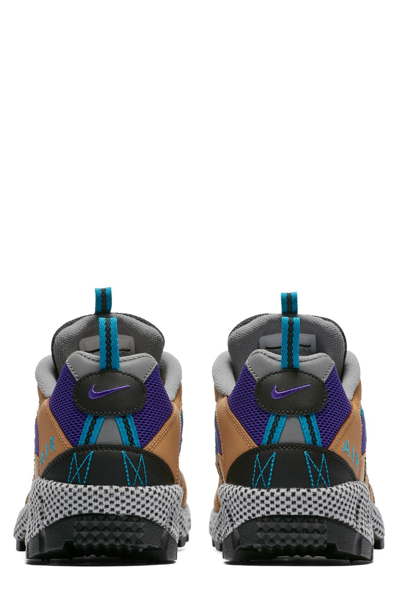 Air Humara 17 QS Sneaker,                             Alternate thumbnail 3, color,                             Gold/ Turquoise-Purple