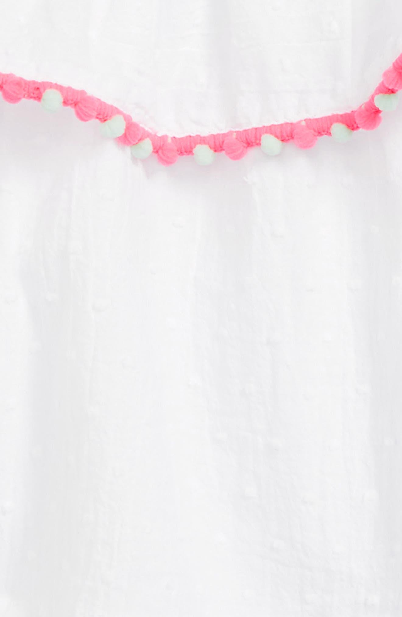 cold shoulder top & gingham shorts,                             Alternate thumbnail 2, color,                             Fresh White